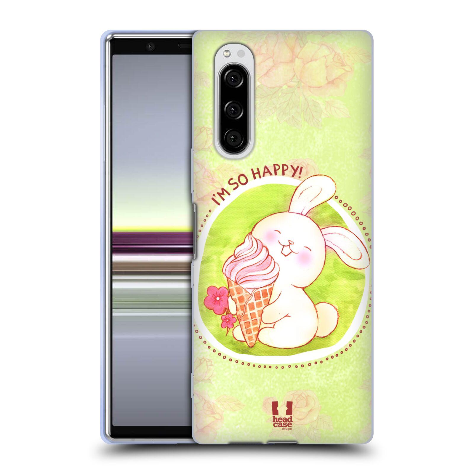 Silikonové pouzdro na mobil Sony Xperia 5 - Head Case - KRÁLÍČEK A ZMRZKA