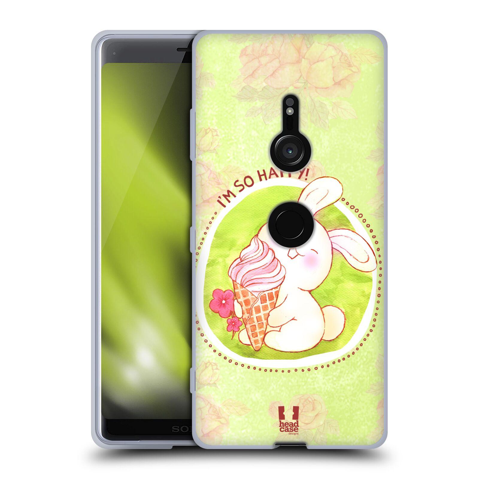 Silikonové pouzdro na mobil Sony Xperia XZ3 - Head Case - KRÁLÍČEK A ZMRZKA