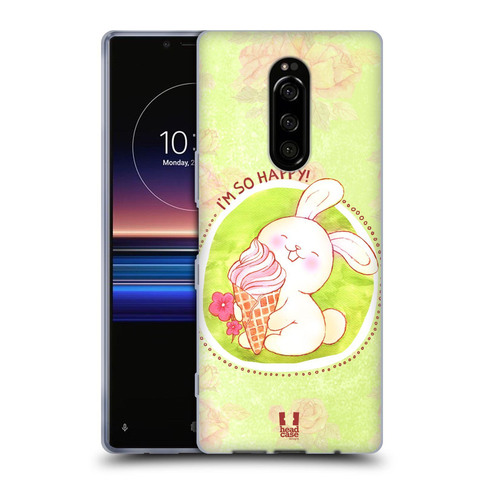Silikonové pouzdro na mobil Sony Xperia 1 - Head Case - KRÁLÍČEK A ZMRZKA
