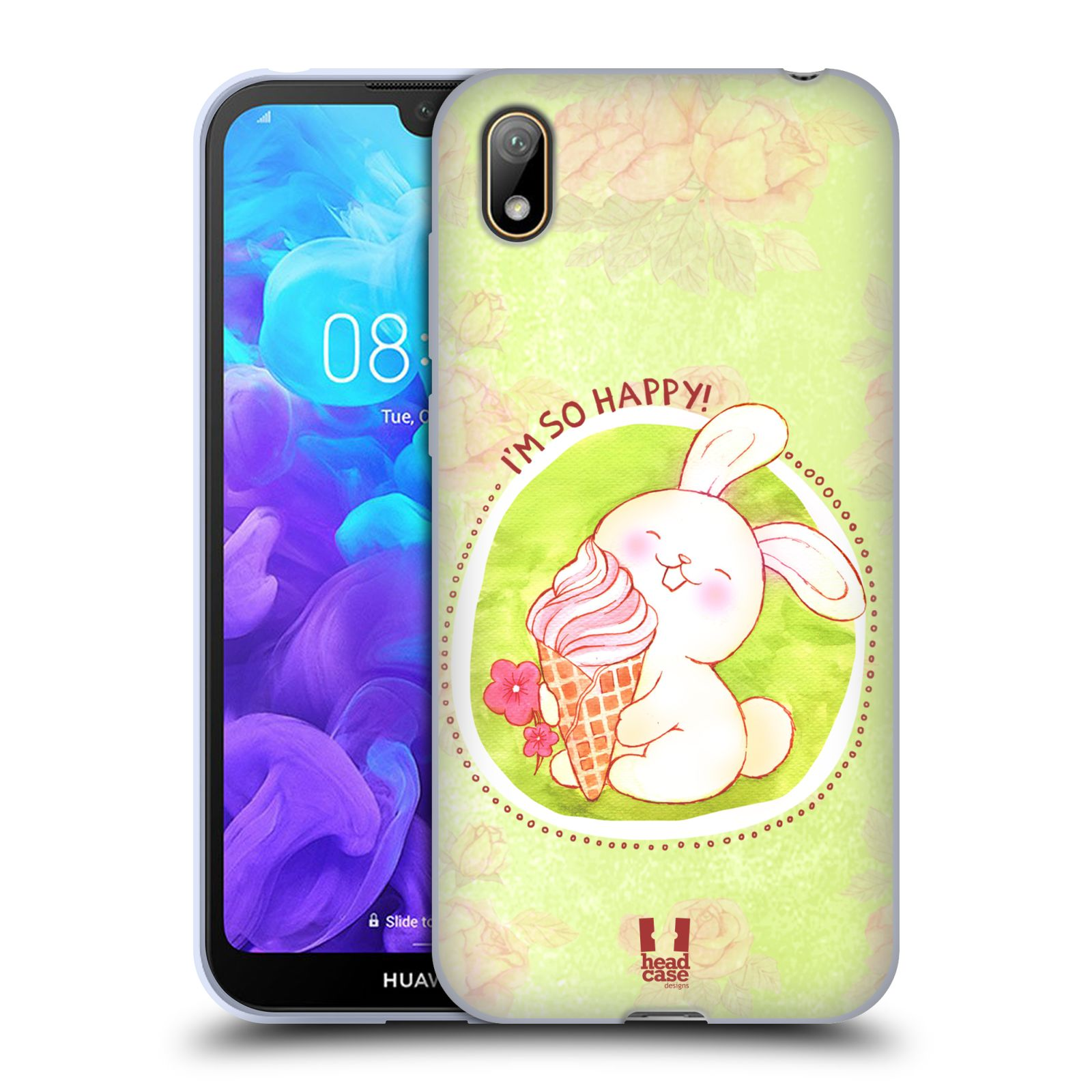 Silikonové pouzdro na mobil Huawei Y5 (2019) - Head Case - KRÁLÍČEK A ZMRZKA