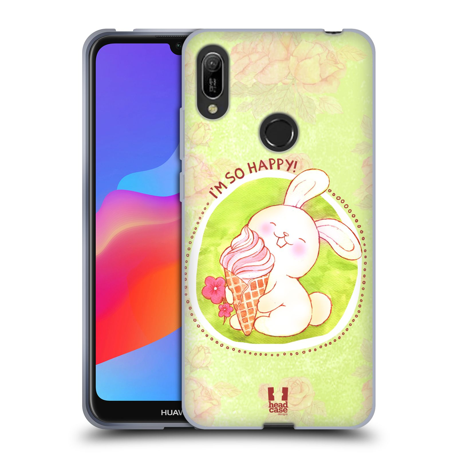 Silikonové pouzdro na mobil Huawei Y6 (2019) - Head Case - KRÁLÍČEK A ZMRZKA