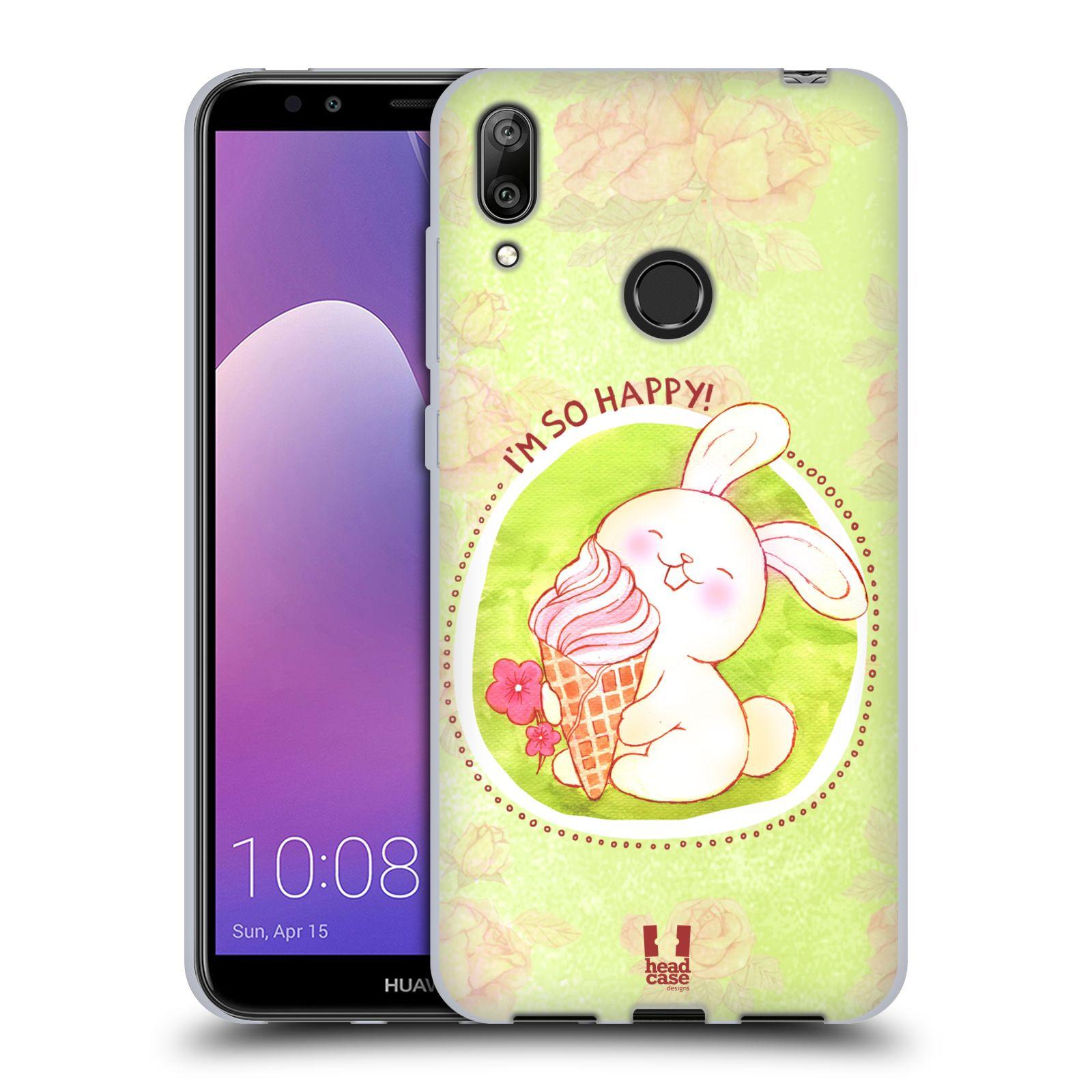 Silikonové pouzdro na mobil Huawei Y7 (2019) - Head Case - KRÁLÍČEK A ZMRZKA