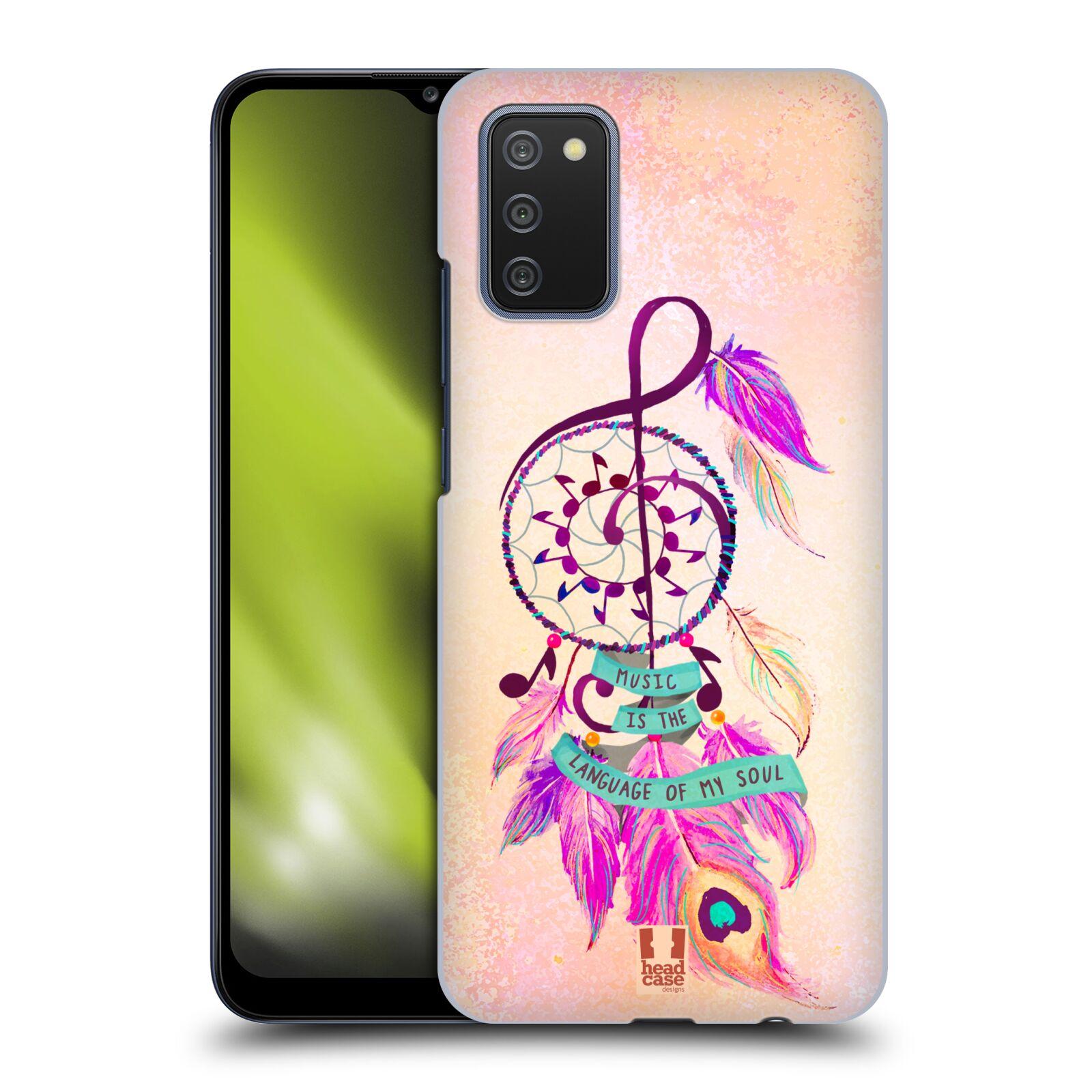 Plastové pouzdro na mobil Samsung Galaxy A02s - Head Case - Lapač Assorted Music