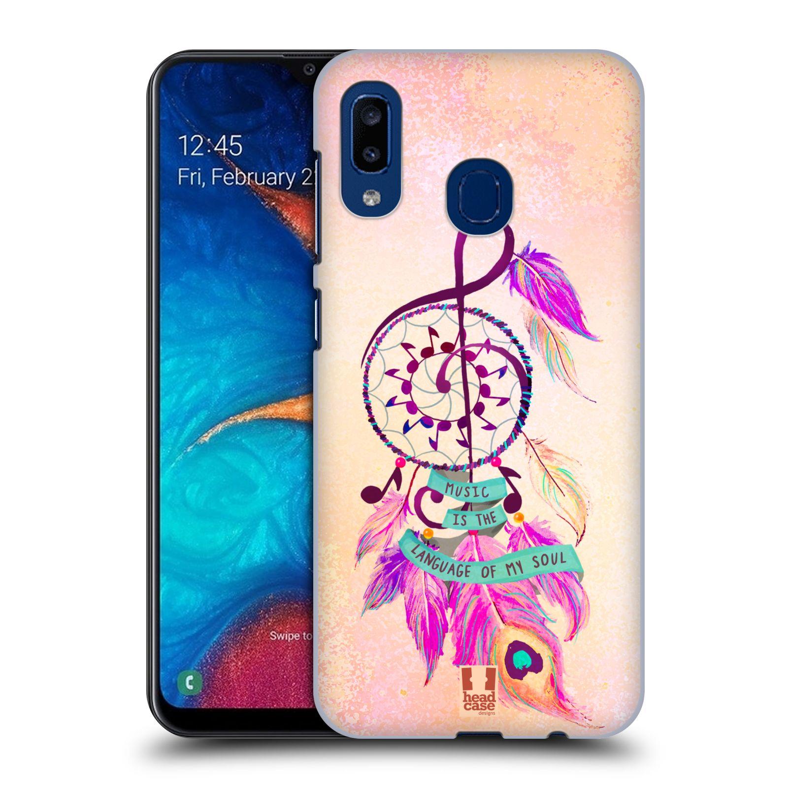 Plastové pouzdro na mobil Samsung Galaxy A20 - Head Case - Lapač Assorted Music