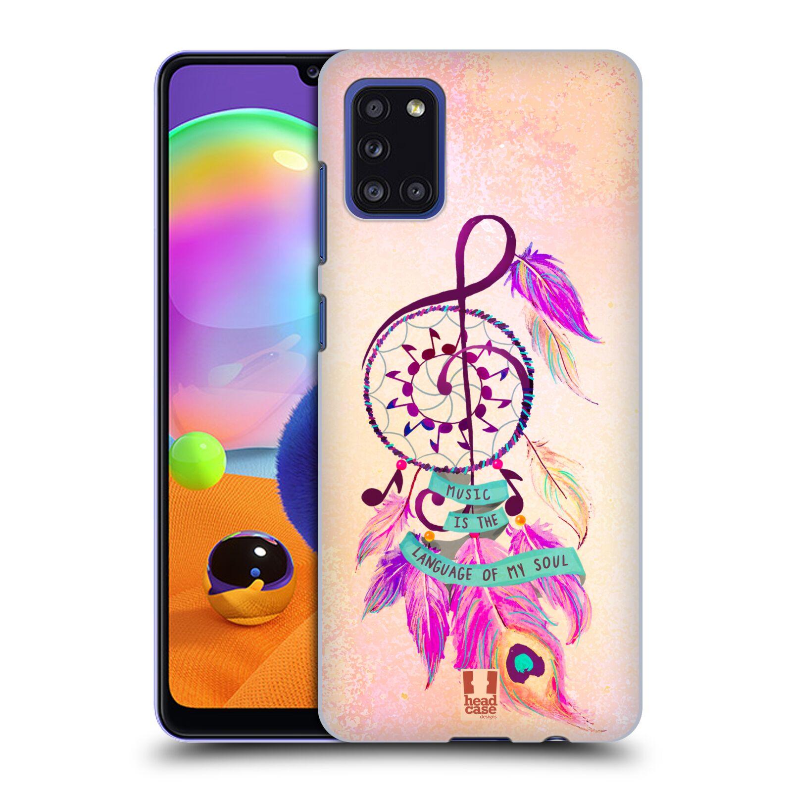 Plastové pouzdro na mobil Samsung Galaxy A31 - Head Case - Lapač Assorted Music
