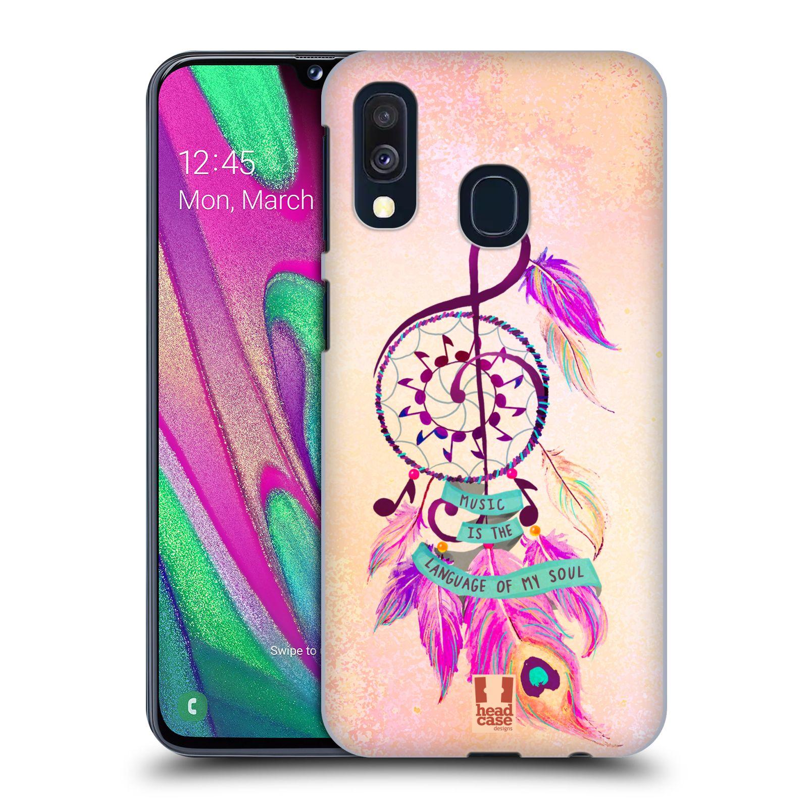 Plastové pouzdro na mobil Samsung Galaxy A40 - Head Case - Lapač Assorted Music