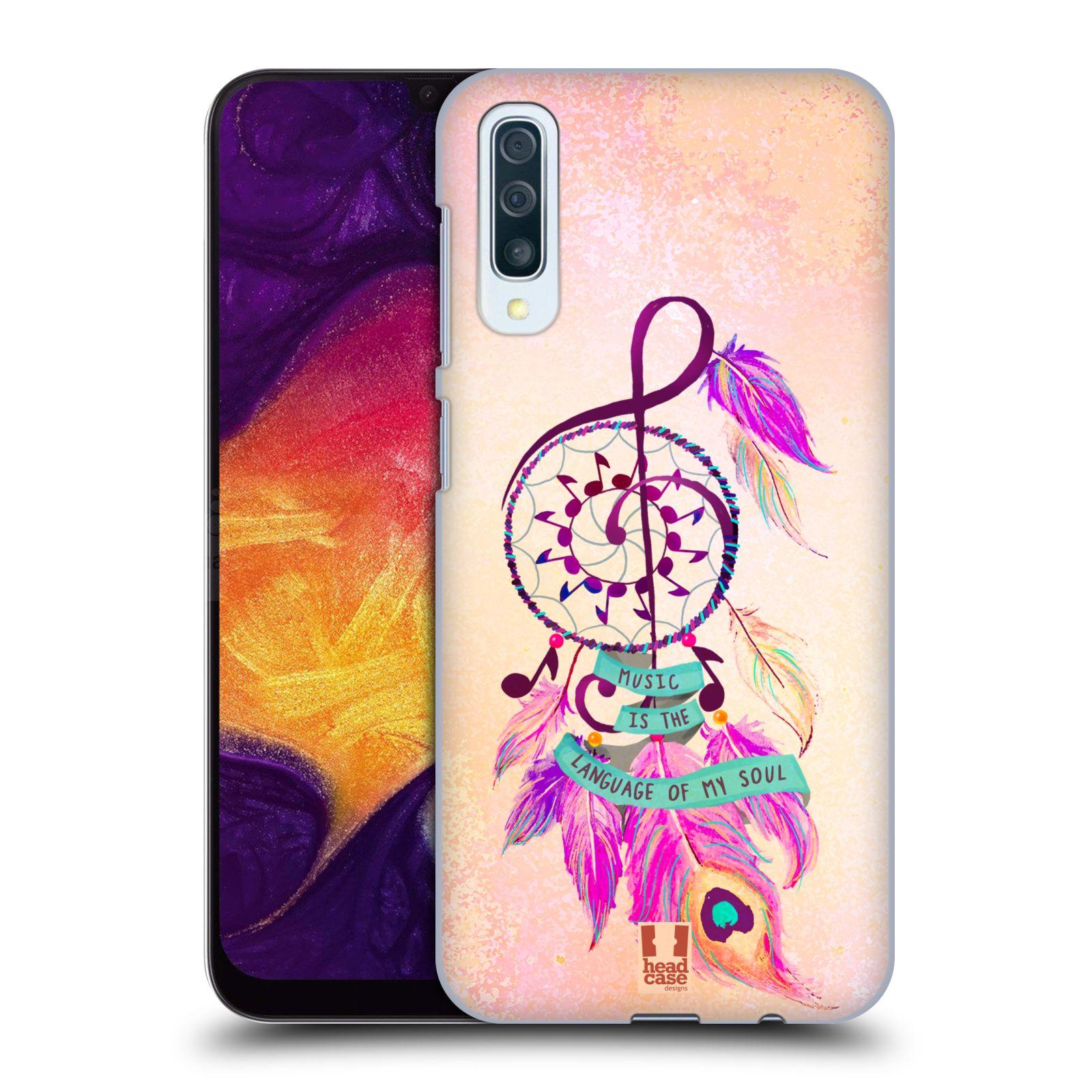 Plastové pouzdro na mobil Samsung Galaxy A50 - Head Case - Lapač Assorted Music