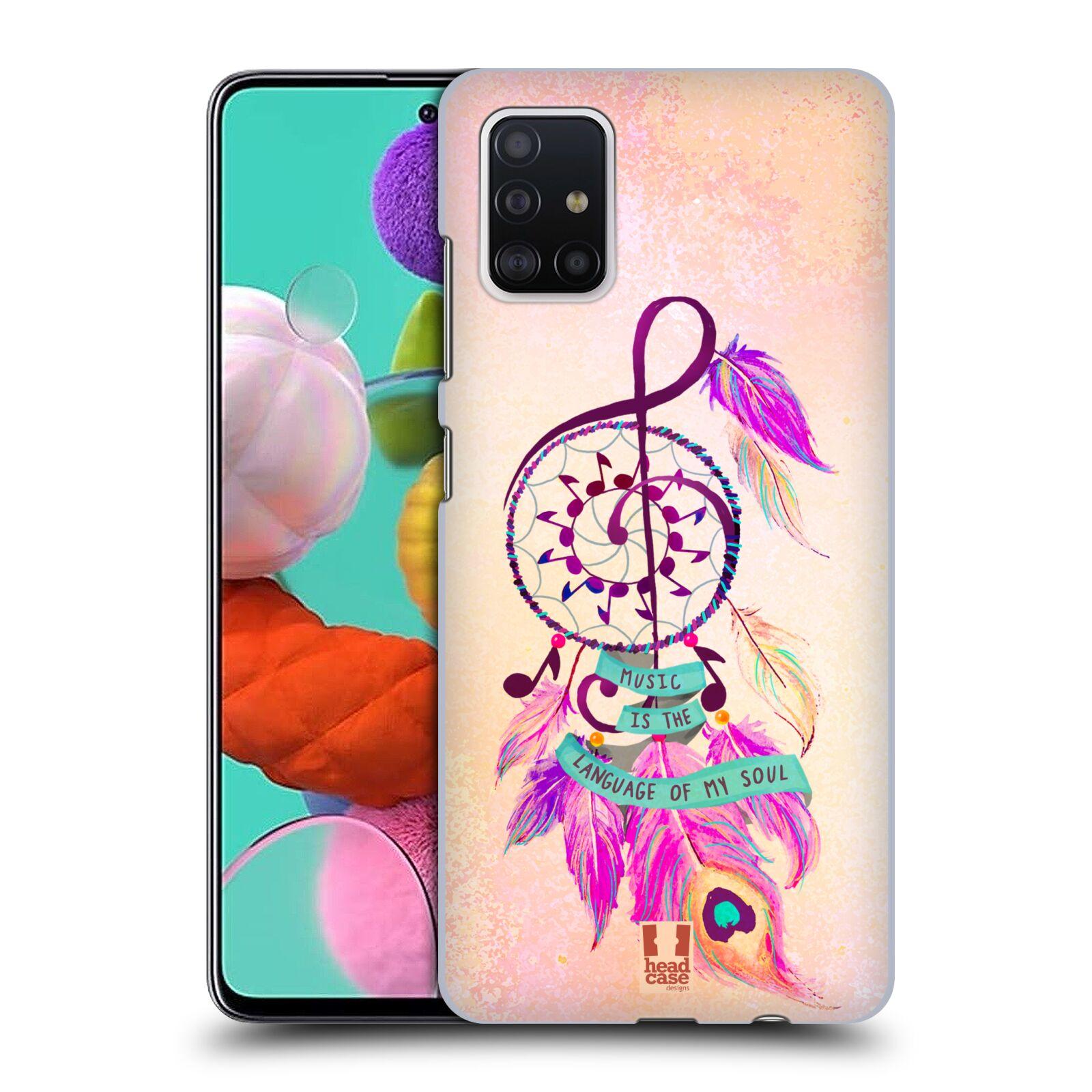 Plastové pouzdro na mobil Samsung Galaxy A51 - Head Case - Lapač Assorted Music