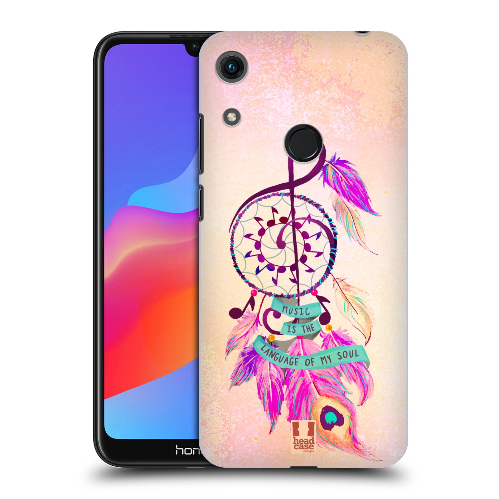 Plastové pouzdro na mobil Honor 8A - Head Case - Lapač Assorted Music