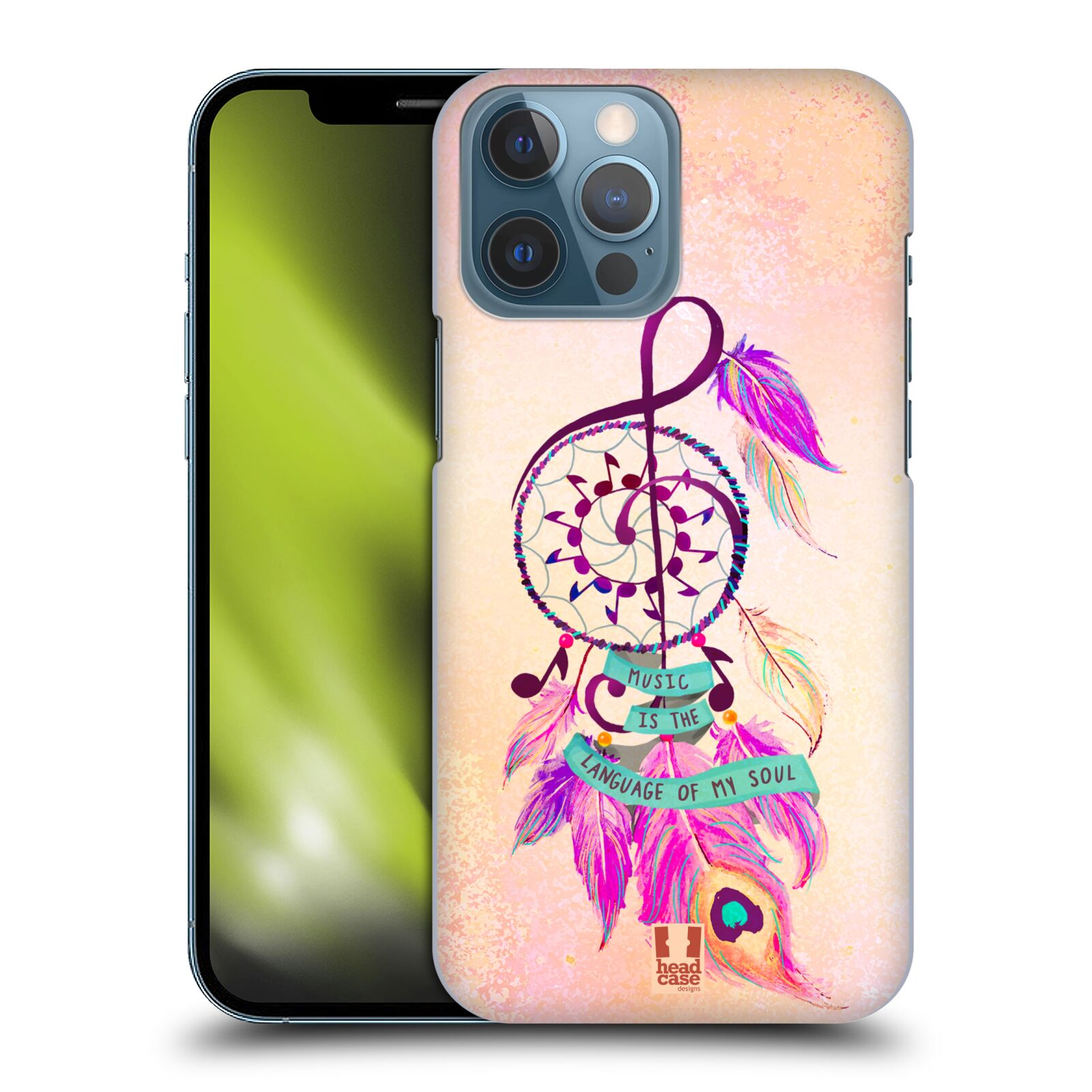 Plastové pouzdro na mobil Apple iPhone 13 Pro Max - Head Case - Lapač Assorted Music