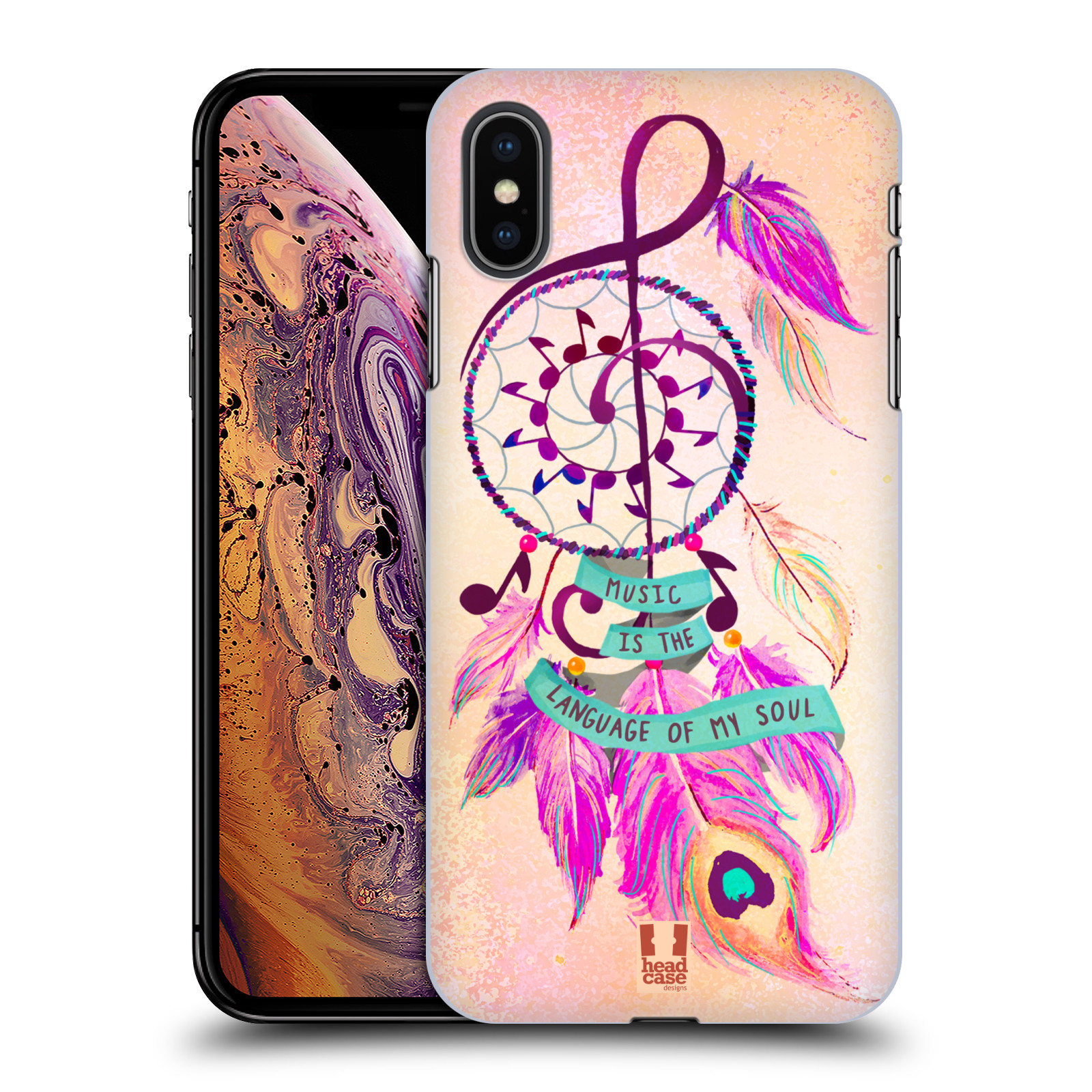 Plastové pouzdro na mobil Apple iPhone XS Max - Head Case - Lapač Assorted Music