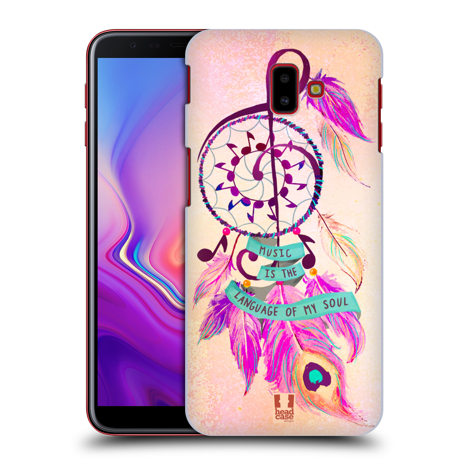 Plastové pouzdro na mobil Samsung Galaxy J6 Plus - Head Case - Lapač Assorted Music