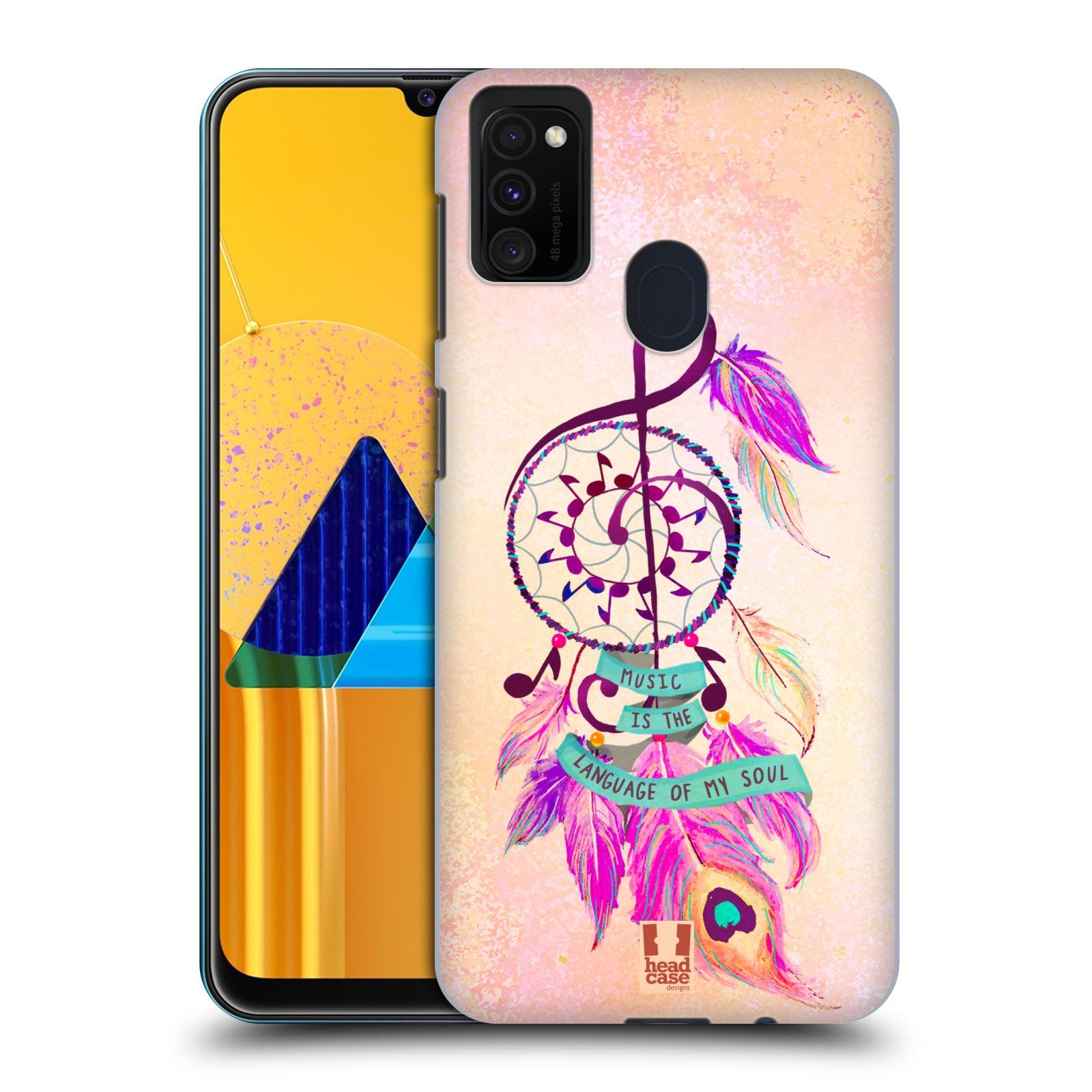 Plastové pouzdro na mobil Samsung Galaxy M21 - Head Case - Lapač Assorted Music