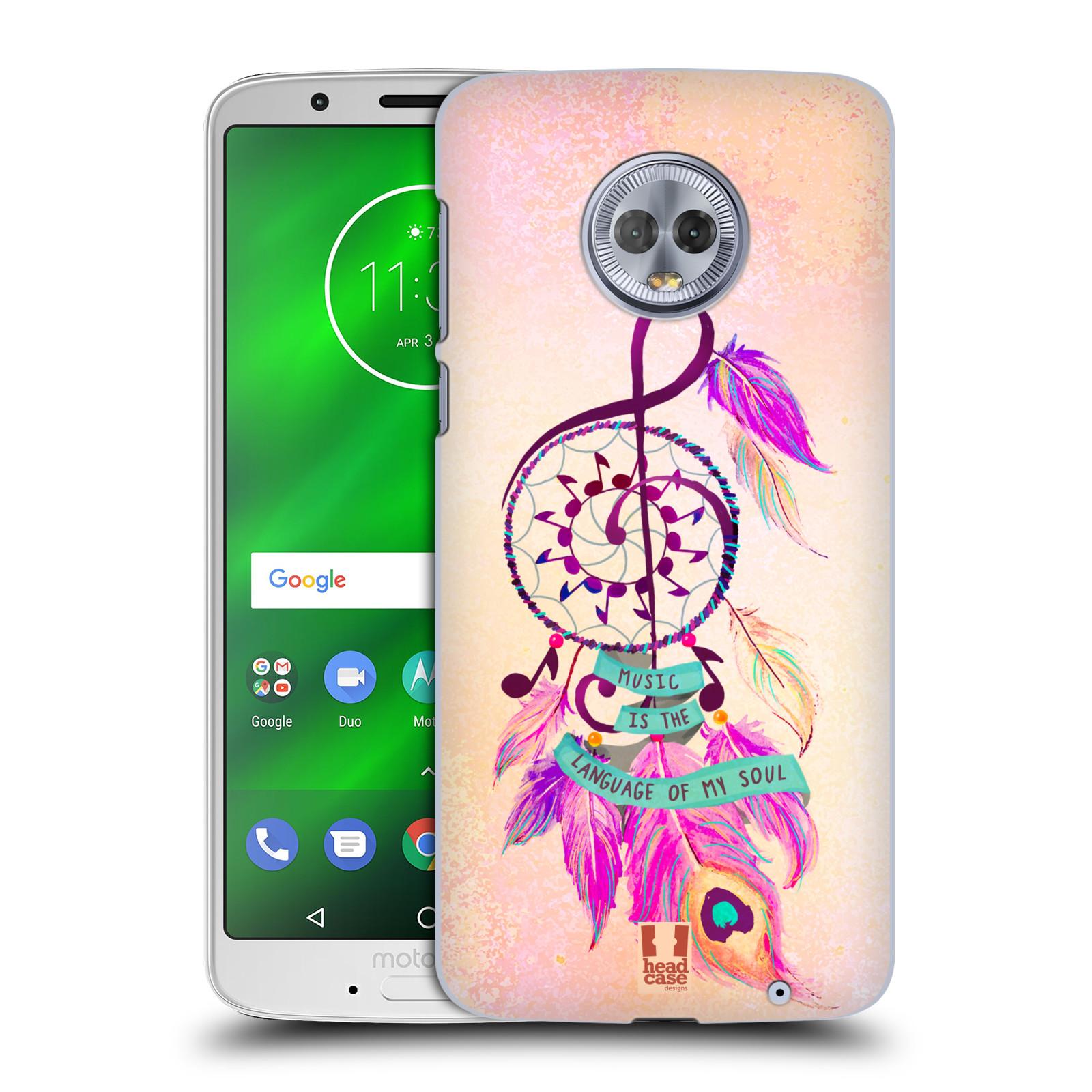 Plastové pouzdro na mobil Motorola Moto G6 Plus - Head Case - Lapač Assorted Music