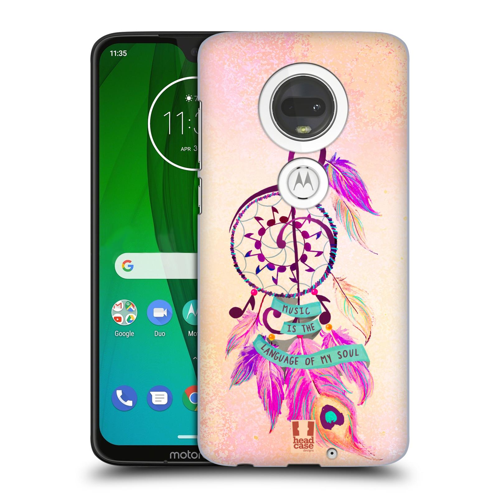 Plastové pouzdro na mobil Motorola Moto G7 - Head Case - Lapač Assorted Music