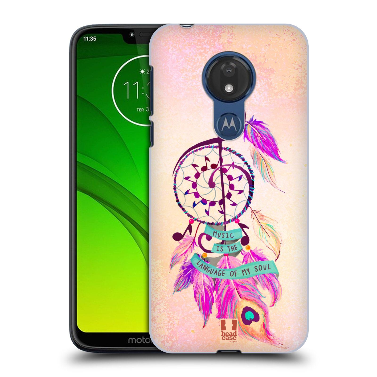 Plastové pouzdro na mobil Motorola Moto G7 Power - Head Case - Lapač Assorted Music