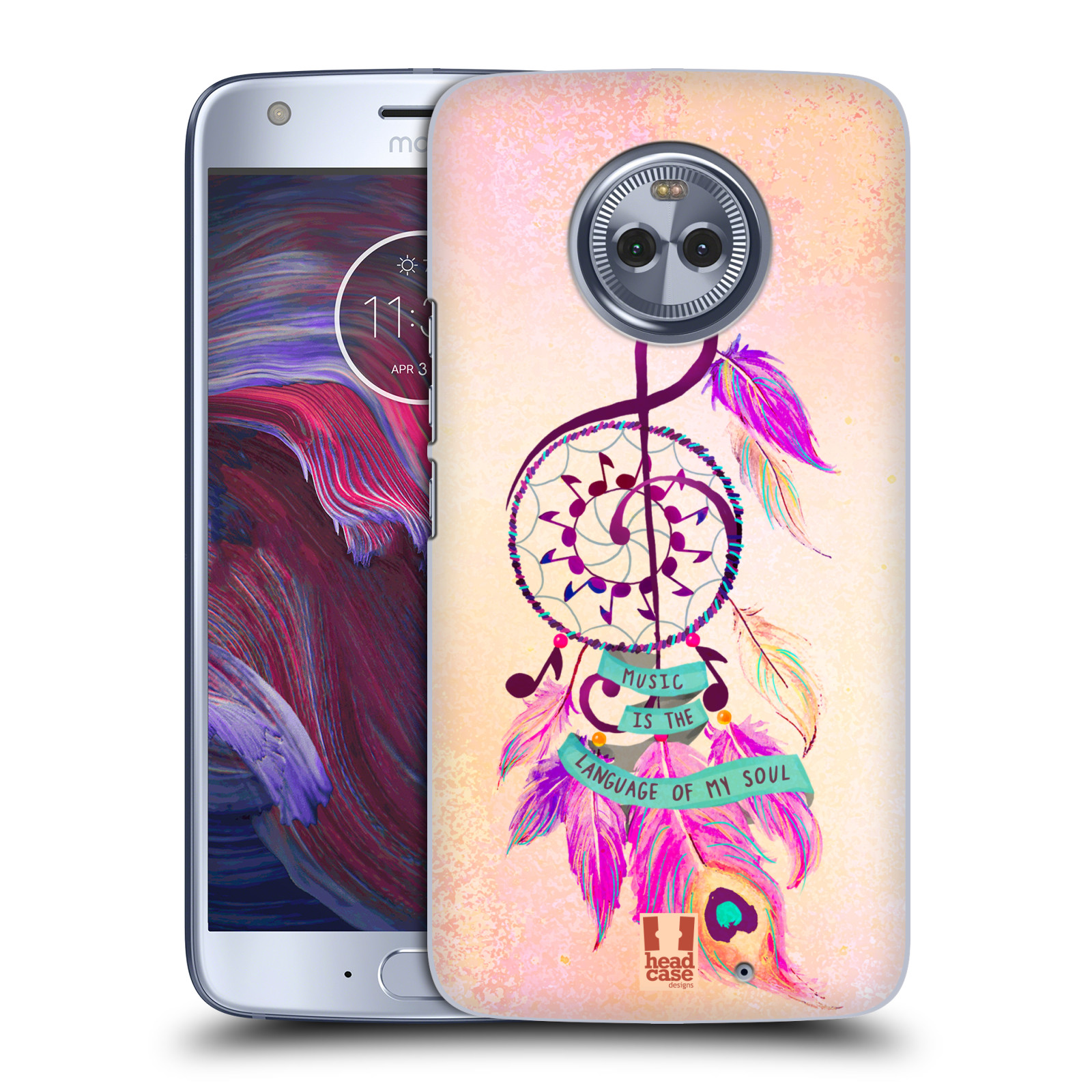Plastové pouzdro na mobil Lenovo Moto X4 - Head Case - Lapač Assorted Music