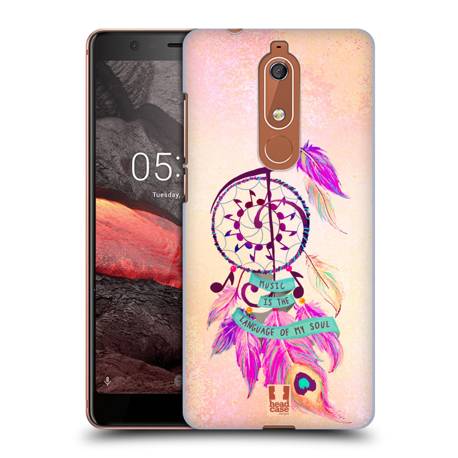 Plastové pouzdro na mobil Nokia 5.1 - Head Case - Lapač Assorted Music