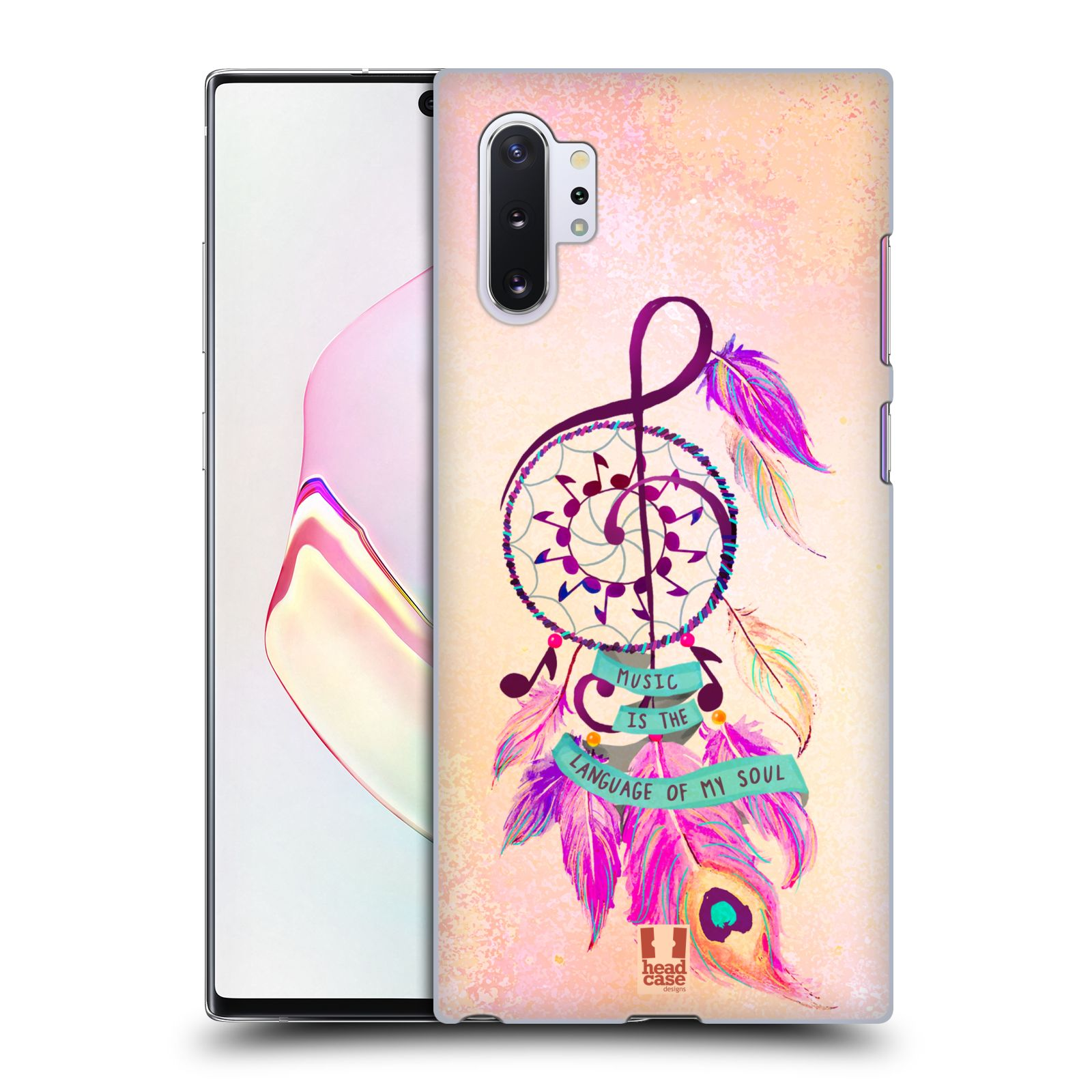 Plastové pouzdro na mobil Samsung Galaxy Note 10 Plus - Head Case - Lapač Assorted Music