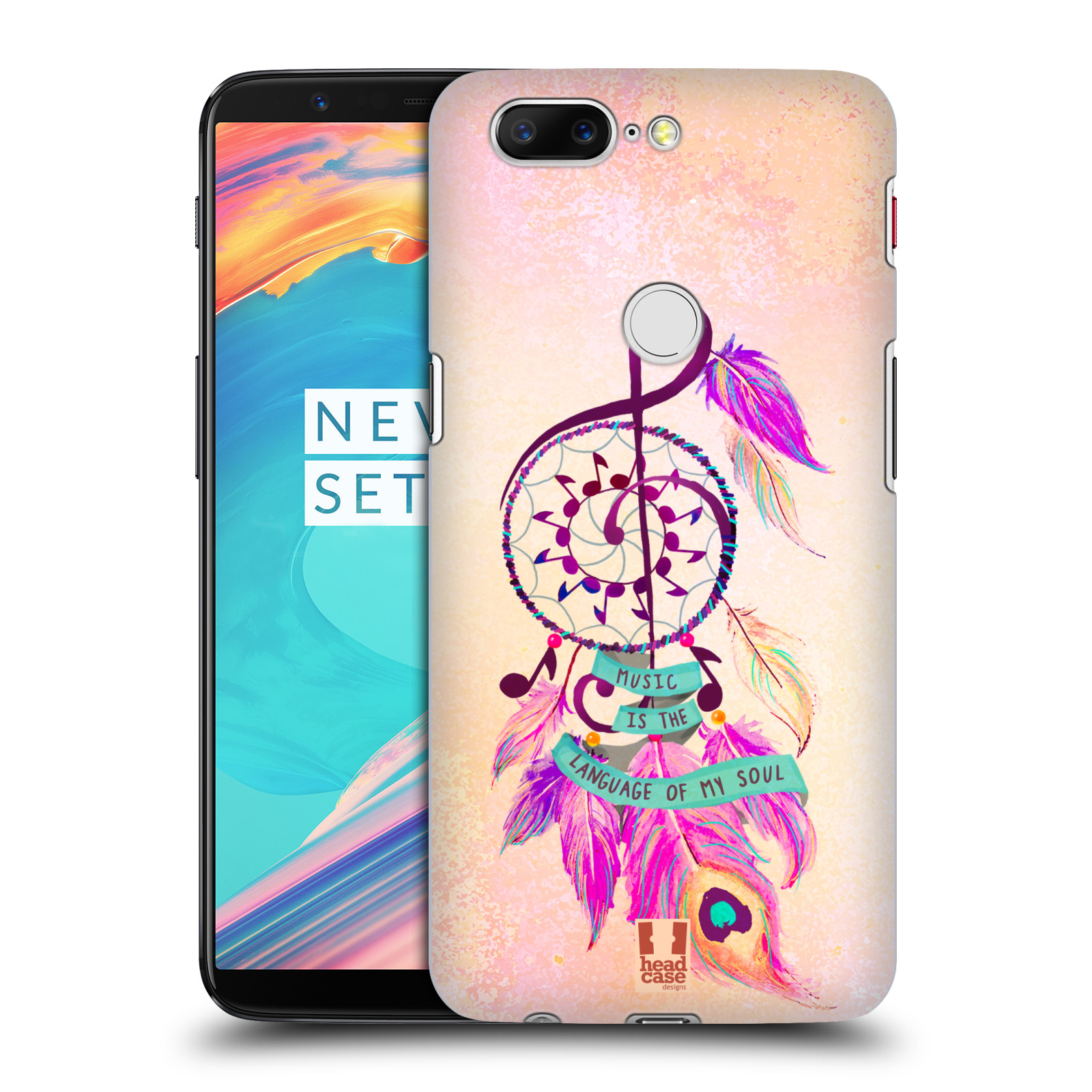 Plastové pouzdro na mobil OnePlus 5T - Head Case - Lapač Assorted Music
