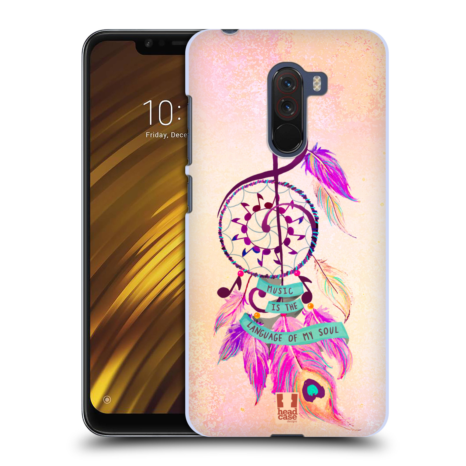 Plastové pouzdro na mobil Xiaomi Pocophone F1 - Head Case - Lapač Assorted Music