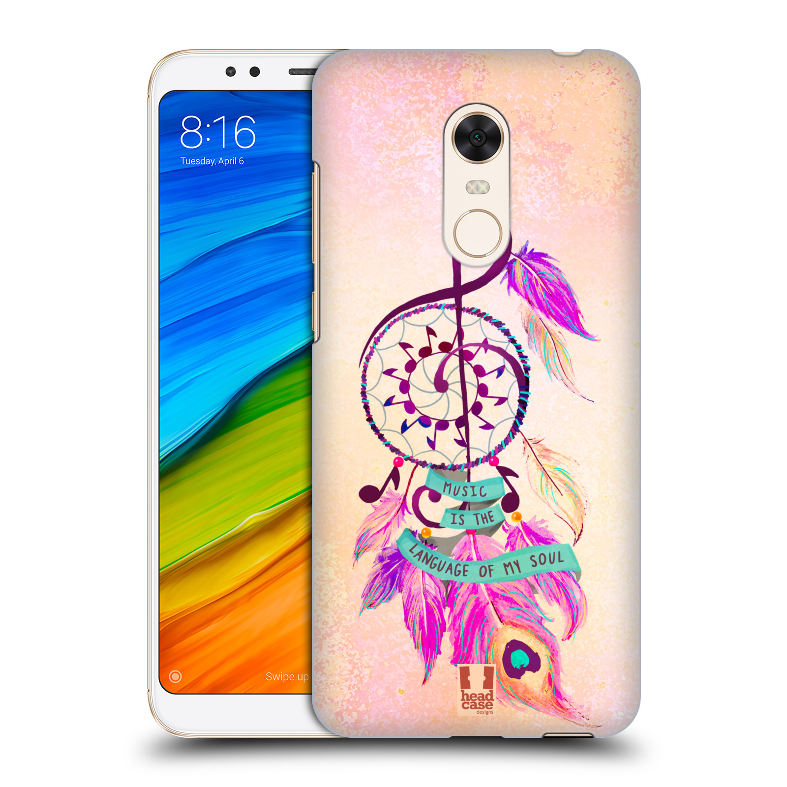 Plastové pouzdro na mobil Xiaomi Redmi 5 Plus - Head Case - Lapač Assorted Music