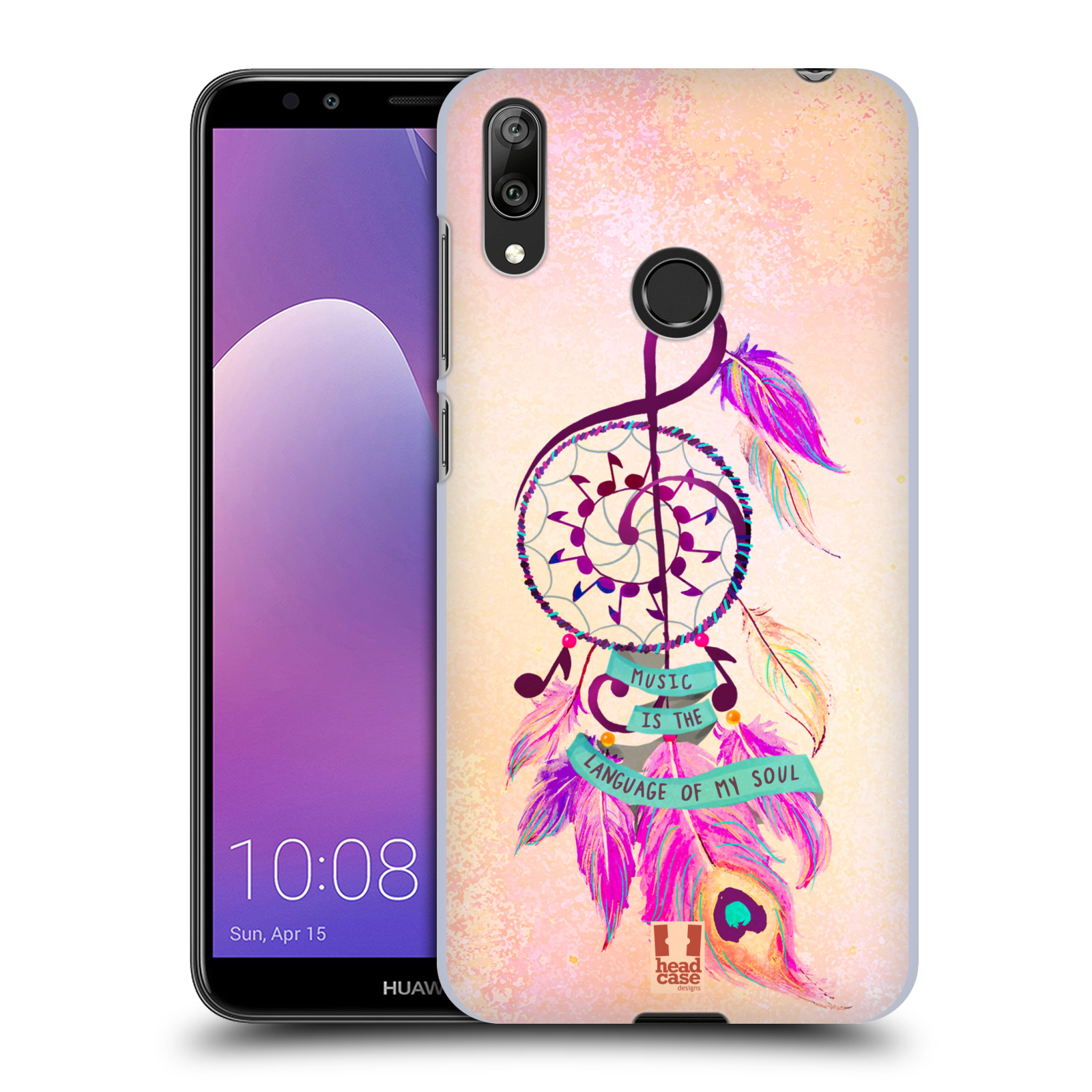 Plastové pouzdro na mobil Huawei Y7 (2019) - Head Case - Lapač Assorted Music