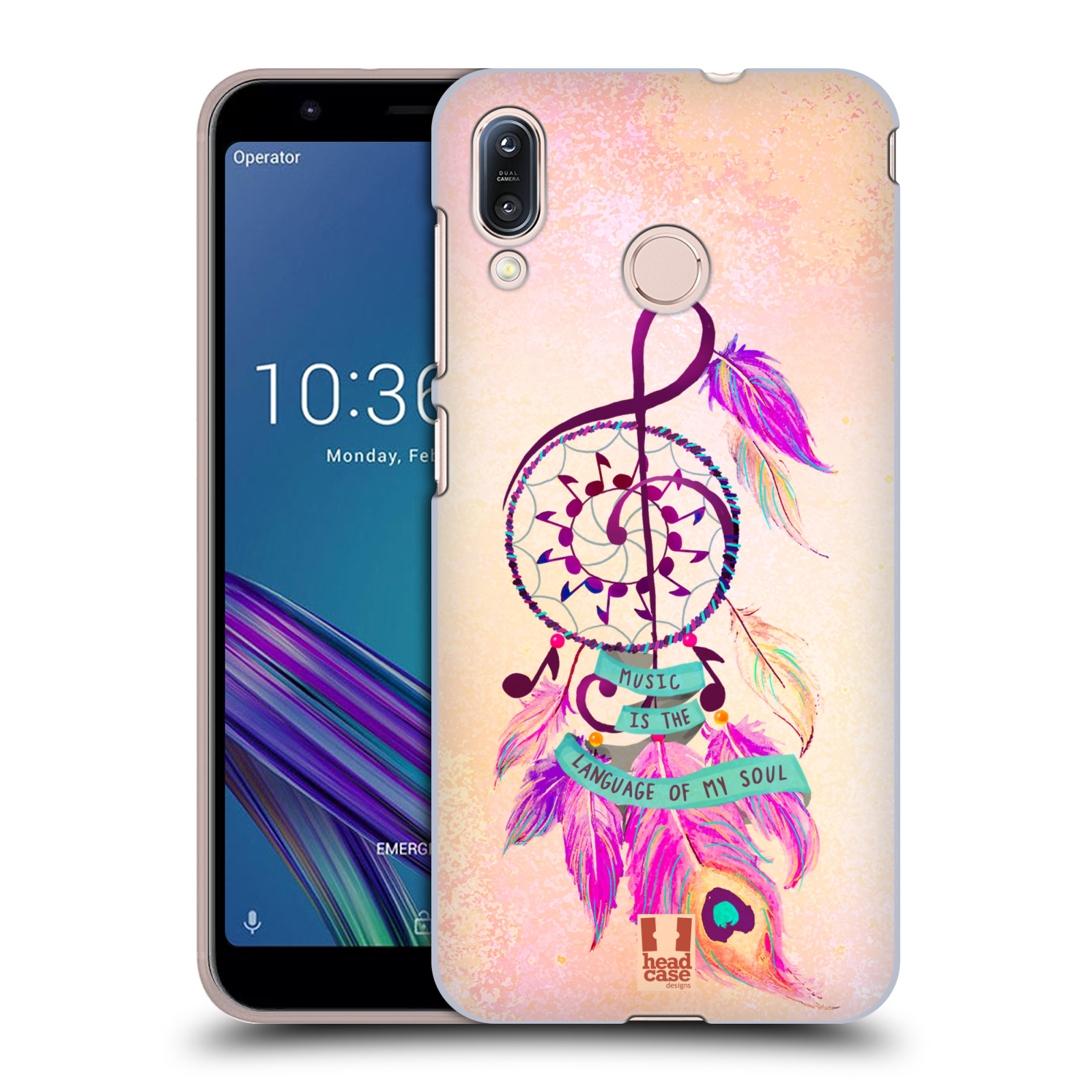 Plastové pouzdro na mobil Asus Zenfone Max M1 ZB555KL - Head Case - Lapač Assorted Music