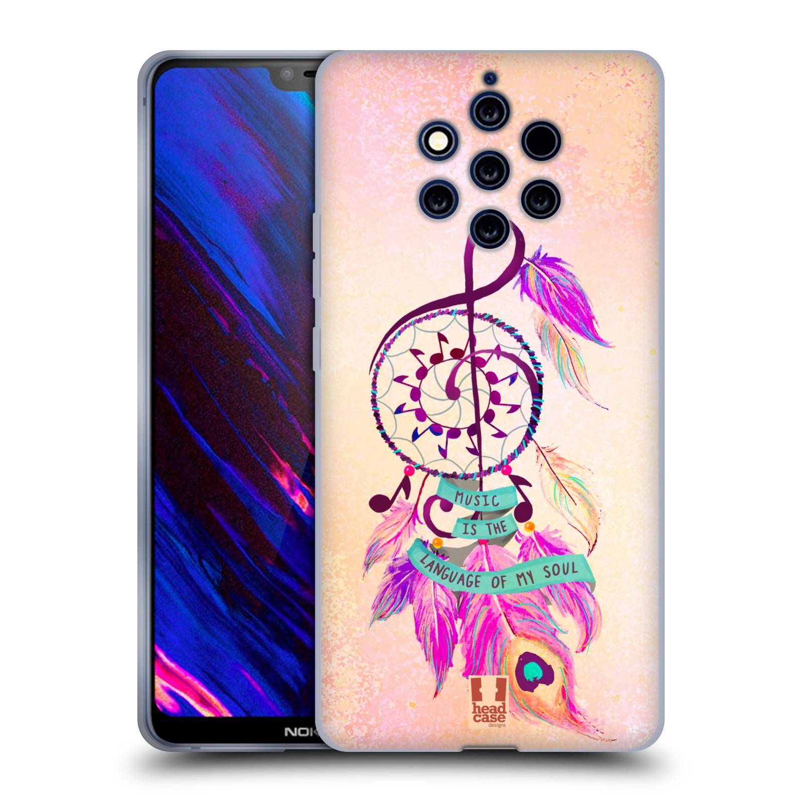 Silikonové pouzdro na mobil Nokia 9 PureView - Head Case - Lapač Assorted Music