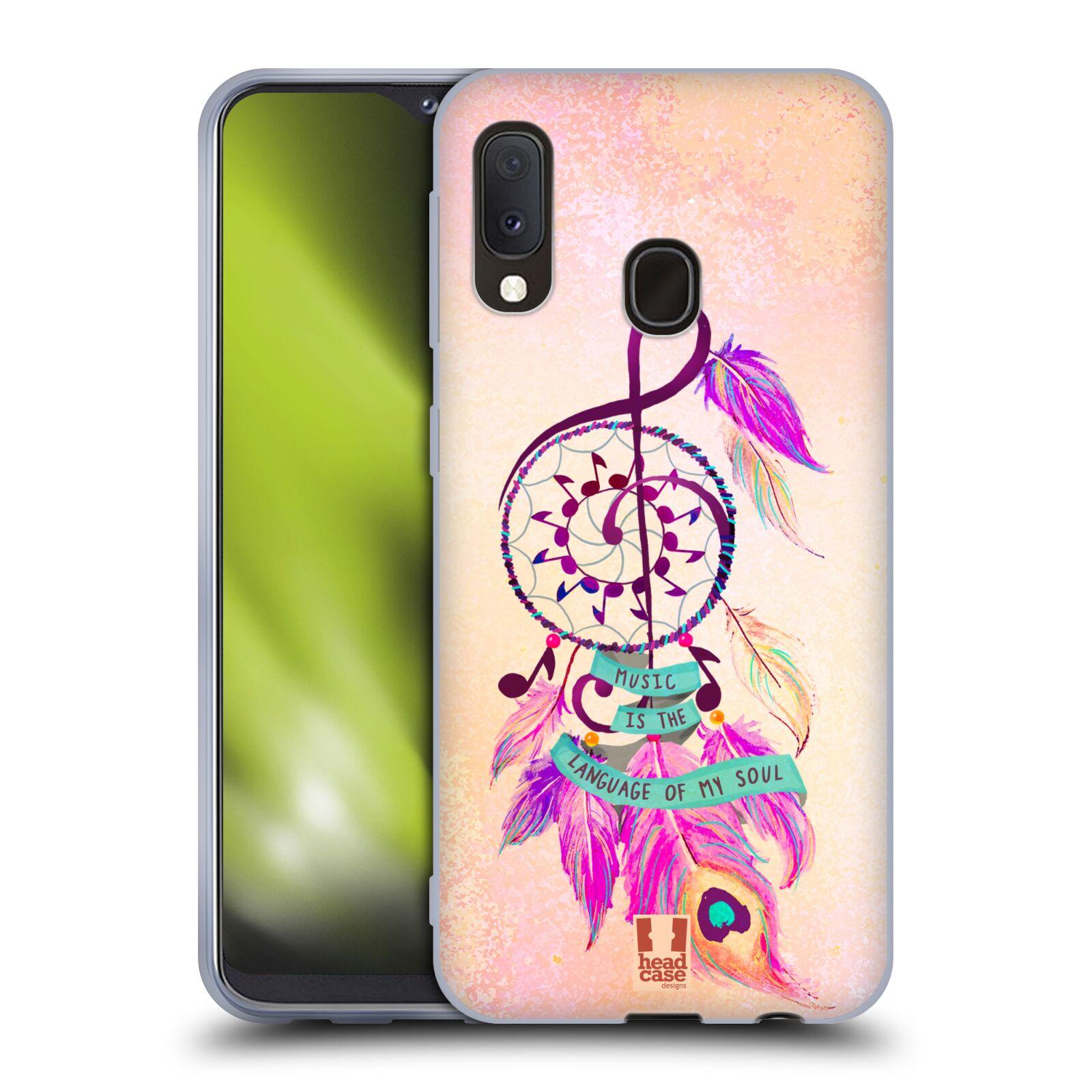 Silikonové pouzdro na mobil Samsung Galaxy A20e - Head Case - Lapač Assorted Music