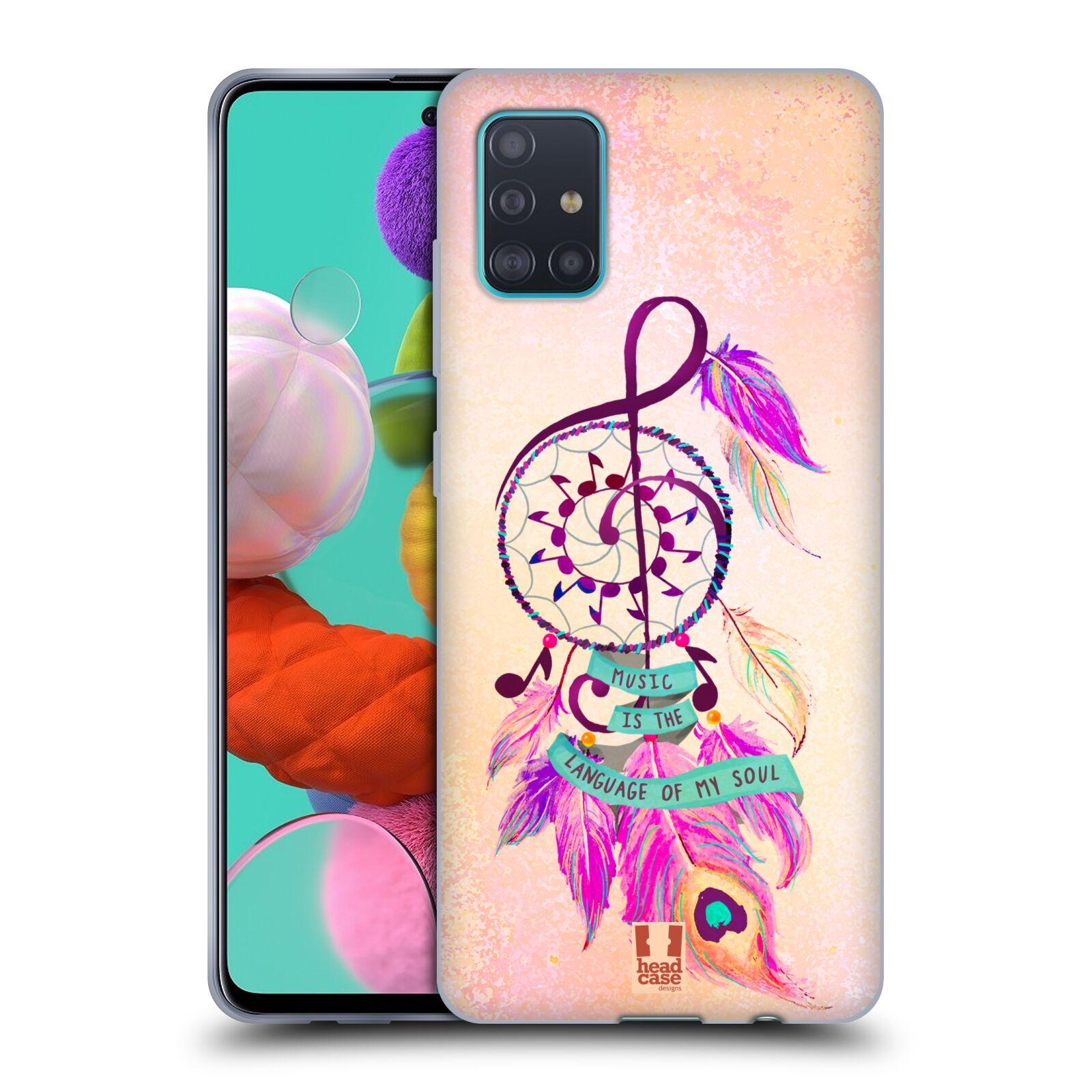 Silikonové pouzdro na mobil Samsung Galaxy A51 - Head Case - Lapač Assorted Music