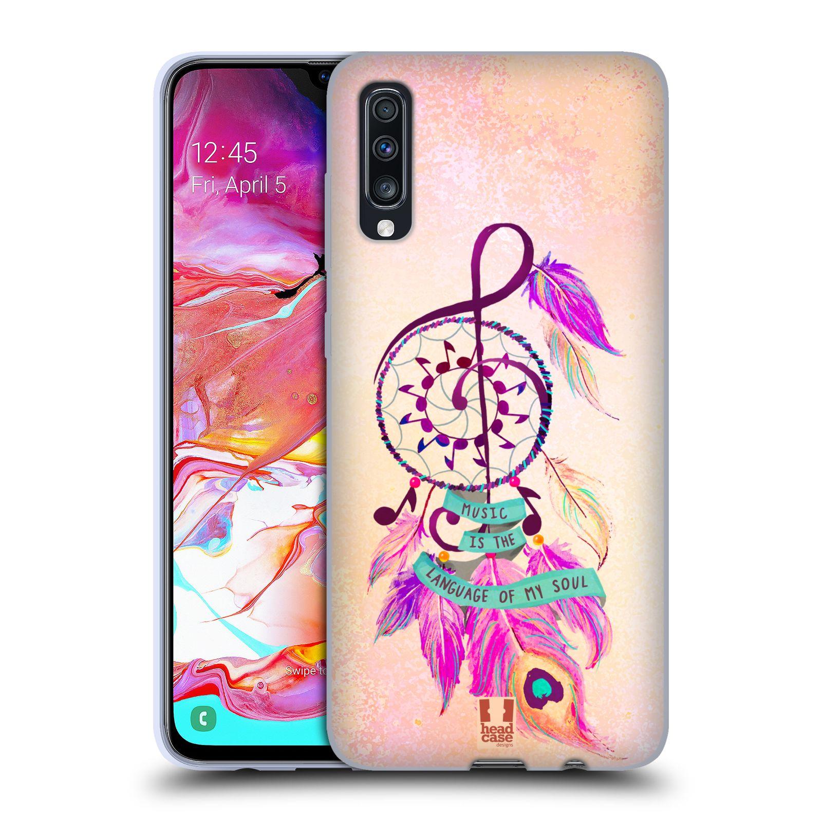 Silikonové pouzdro na mobil Samsung Galaxy A70 - Head Case - Lapač Assorted Music