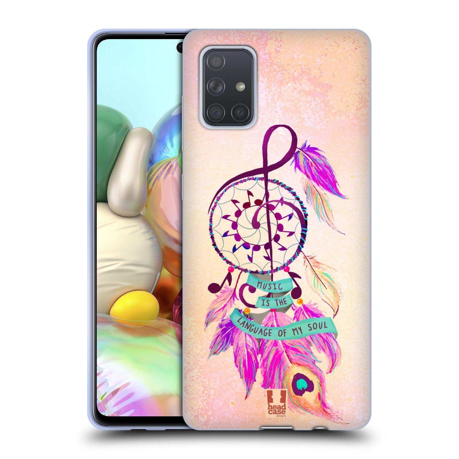 Silikonové pouzdro na mobil Samsung Galaxy A71 - Head Case - Lapač Assorted Music