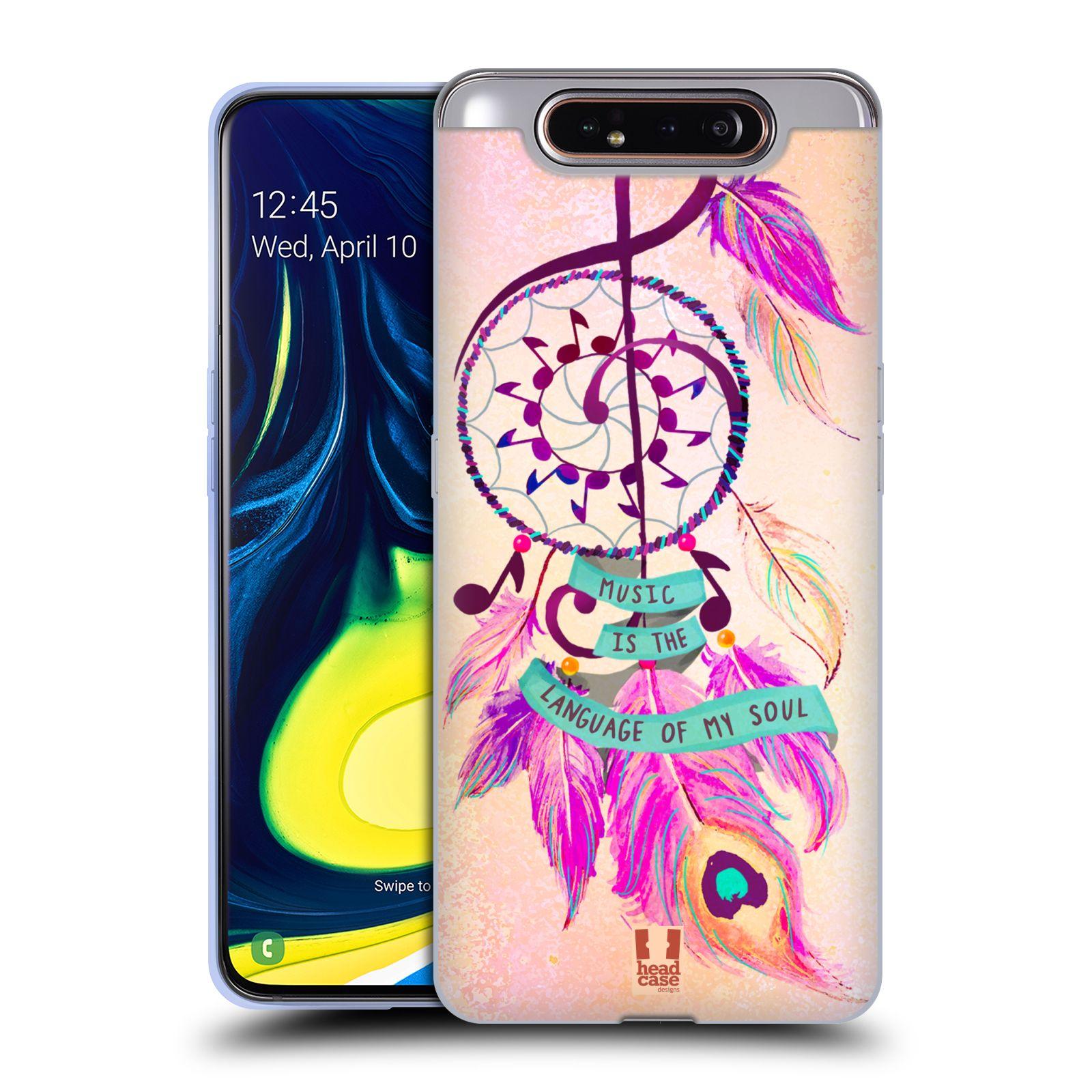 Silikonové pouzdro na mobil Samsung Galaxy A80 - Head Case - Lapač Assorted Music