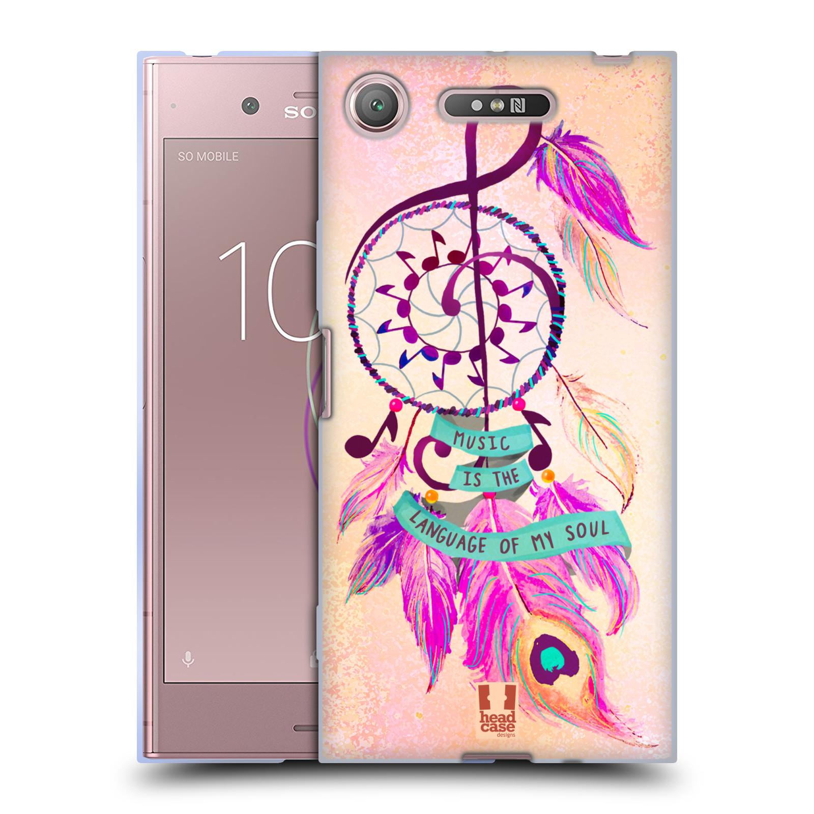 Silikonové pouzdro na mobil Sony Xperia XZ1 - Head Case - Lapač Assorted Music