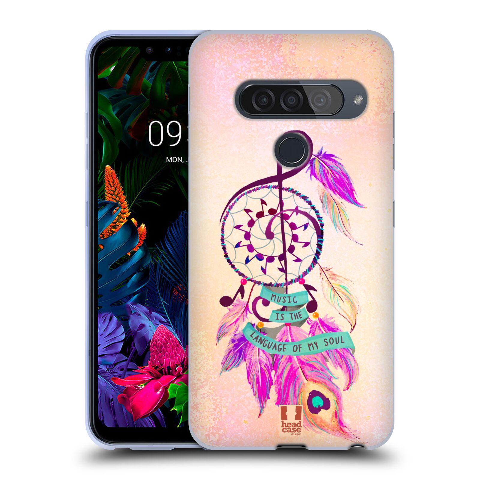 Silikonové pouzdro na mobil LG G8s ThinQ - Head Case - Lapač Assorted Music