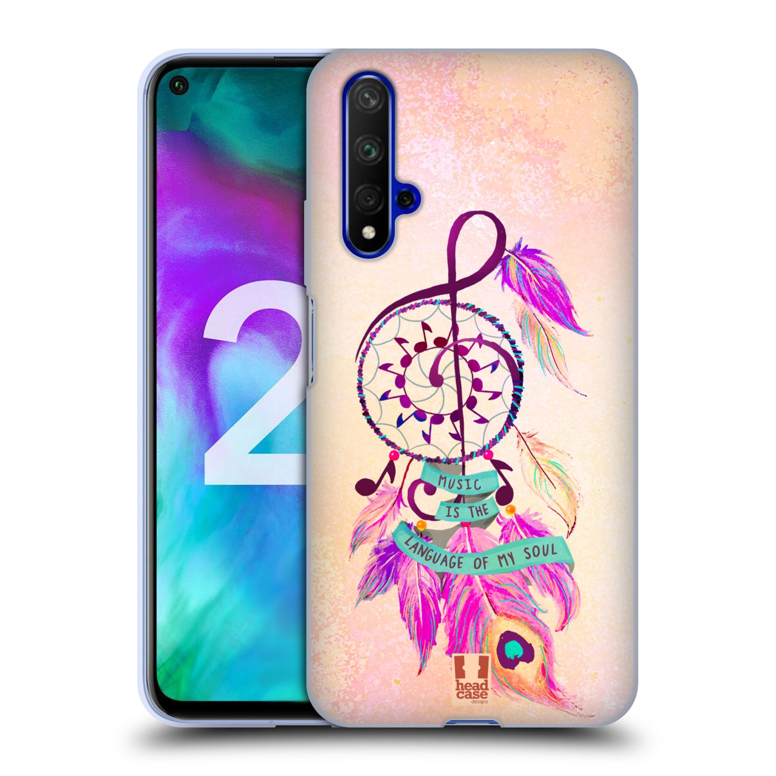 Silikonové pouzdro na mobil Honor 20 - Head Case - Lapač Assorted Music