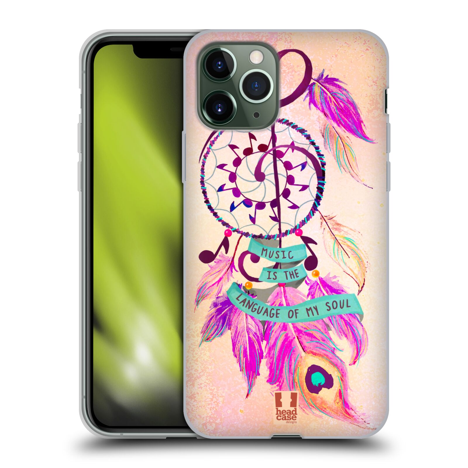 kryt na iphone 8 mall | Silikonové pouzdro na mobil Apple iPhone 11 Pro - Head Case - Lapač Assorted Music