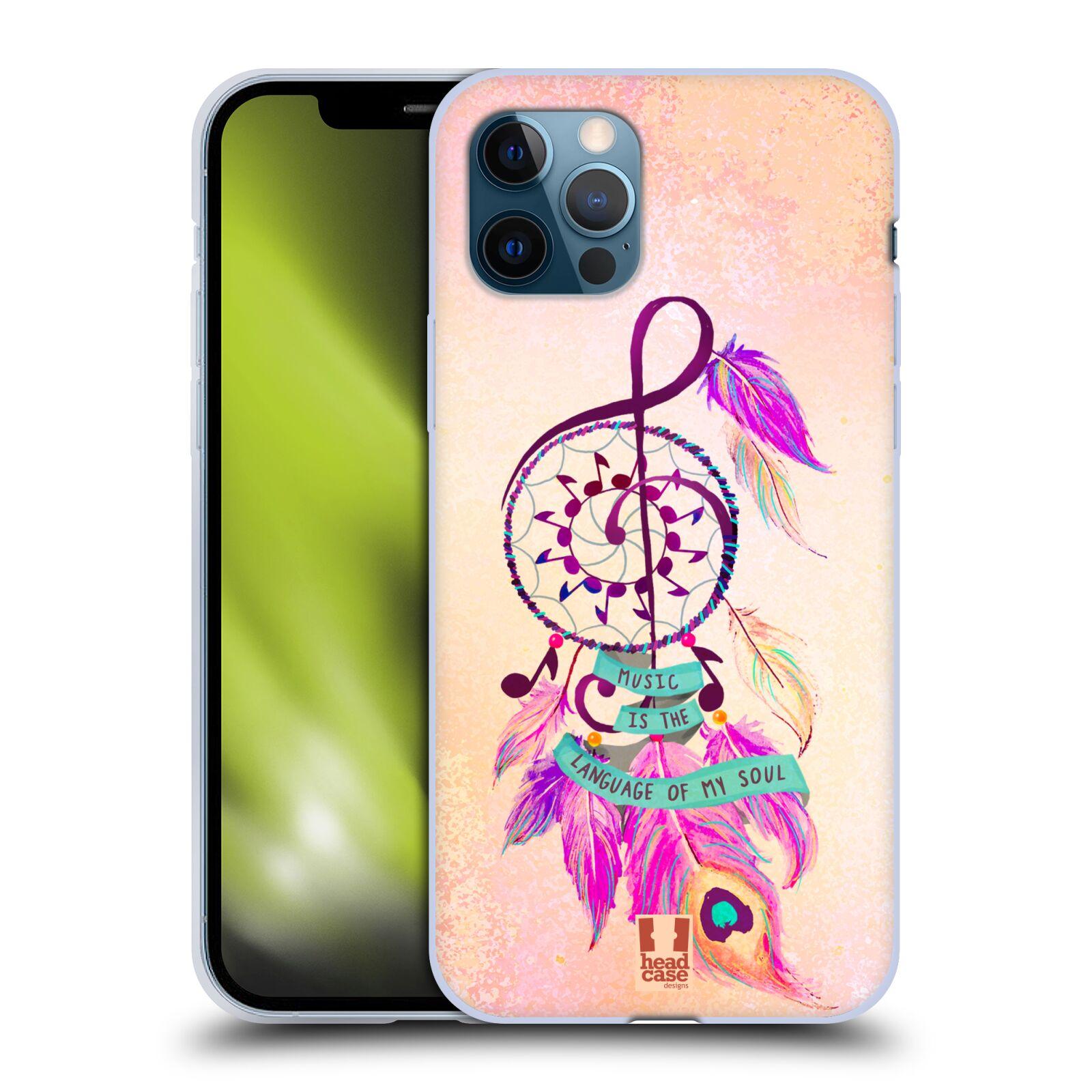 Silikonové pouzdro na mobil Apple iPhone 12 / 12 Pro - Head Case - Lapač Assorted Music