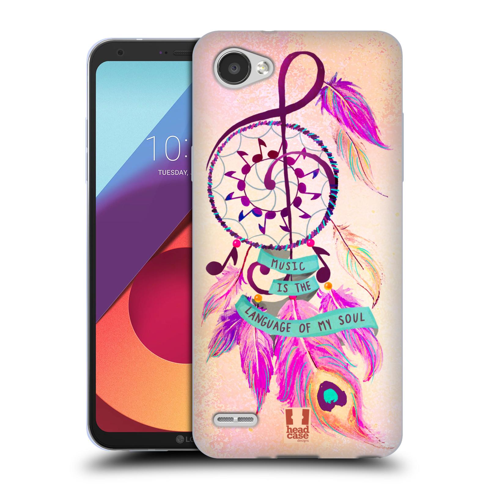 Silikonové pouzdro na mobil LG Q6 - Head Case - Lapač Assorted Music