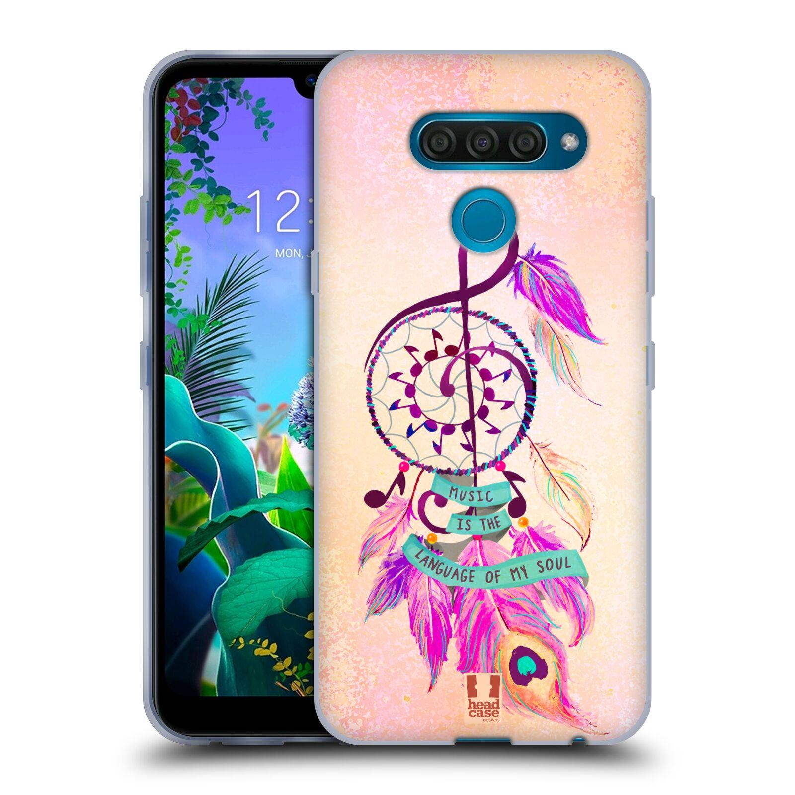 Silikonové pouzdro na mobil LG Q60 - Head Case - Lapač Assorted Music