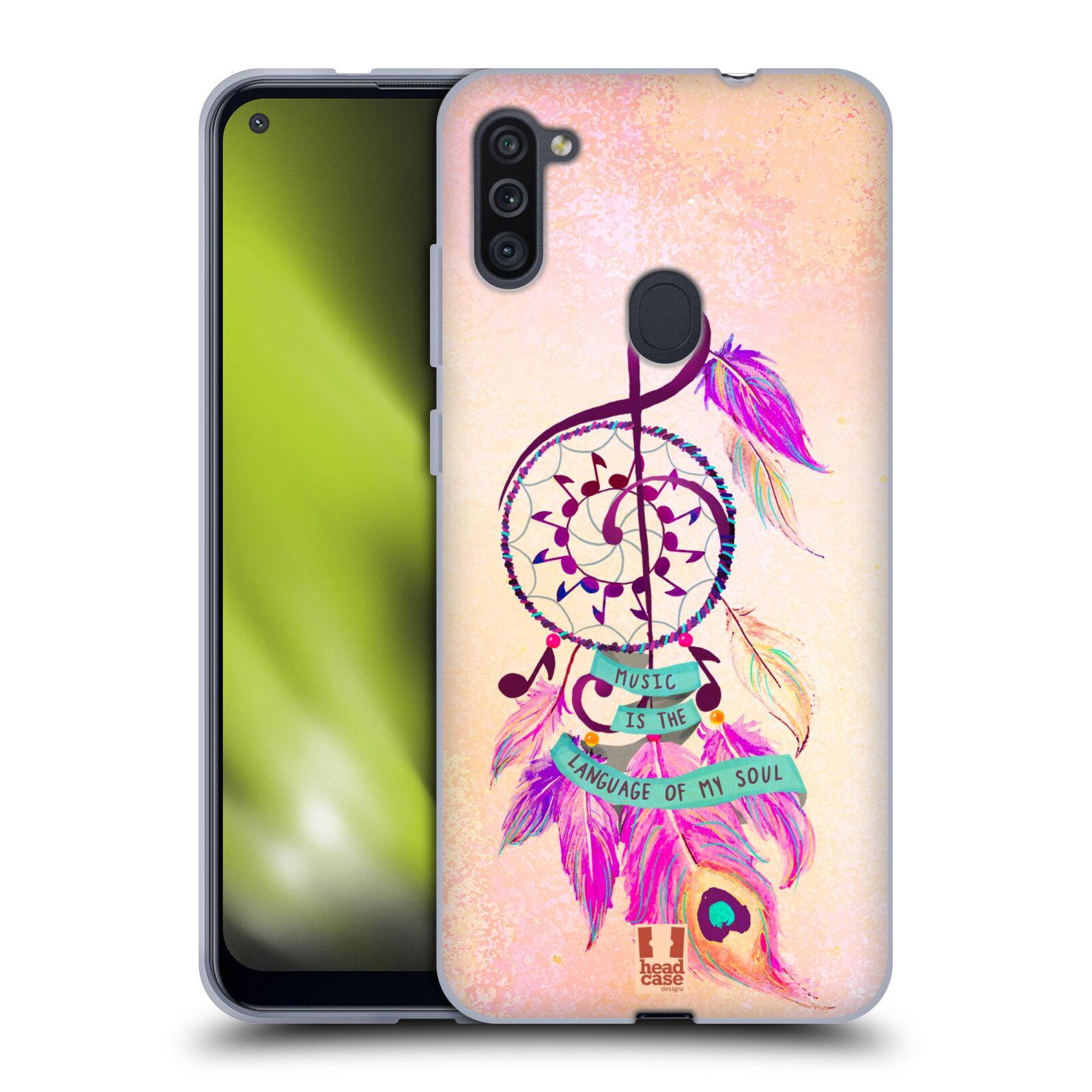 Silikonové pouzdro na mobil Samsung Galaxy M11 - Head Case - Lapač Assorted Music
