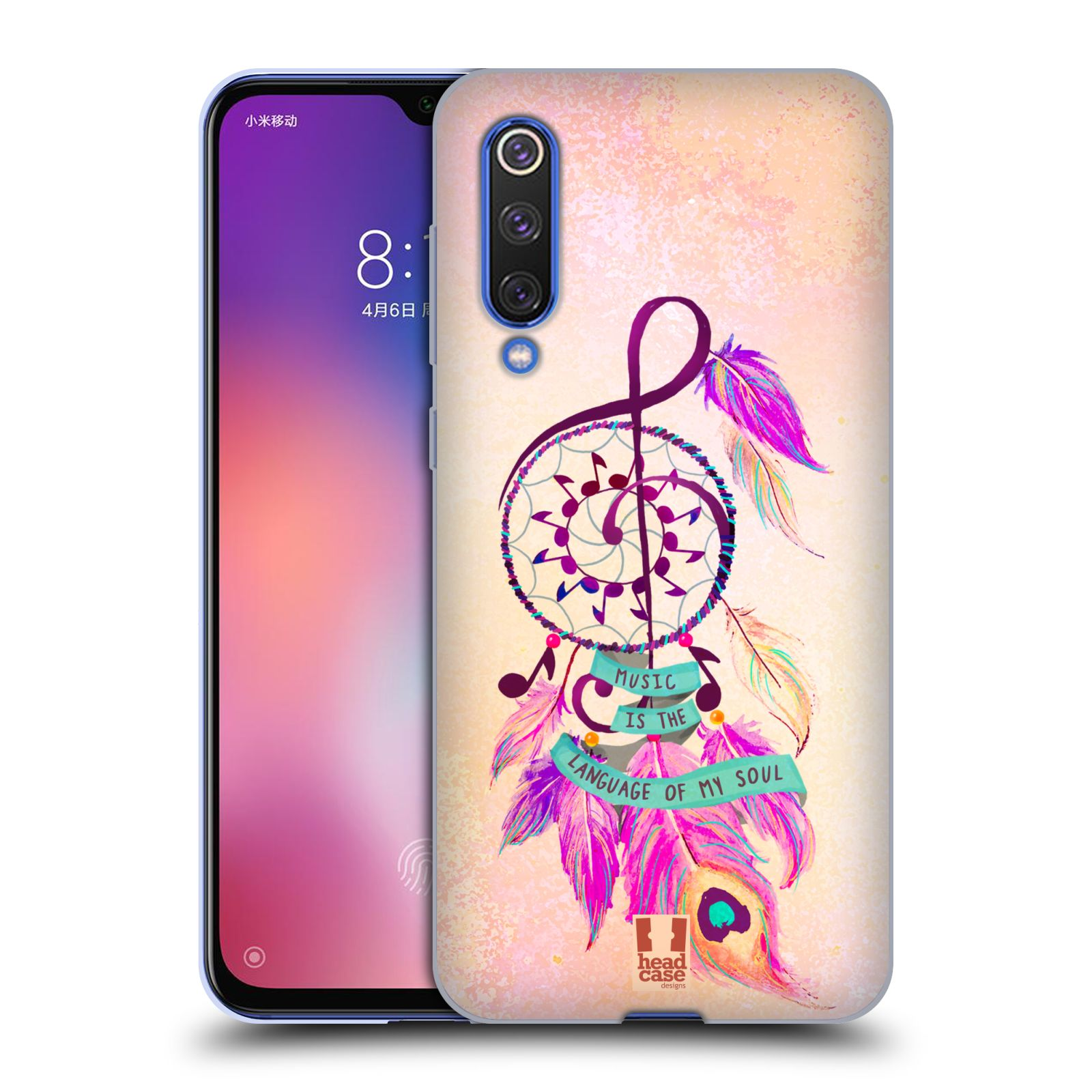 Silikonové pouzdro na mobil Xiaomi Mi 9 SE - Head Case - Lapač Assorted Music