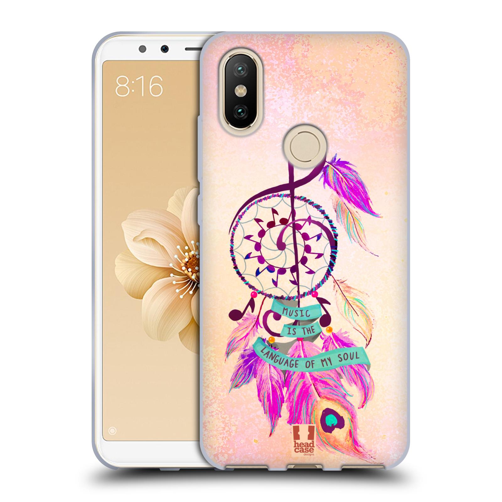 Silikonové pouzdro na mobil Xiaomi Mi A2 - Head Case - Lapač Assorted Music