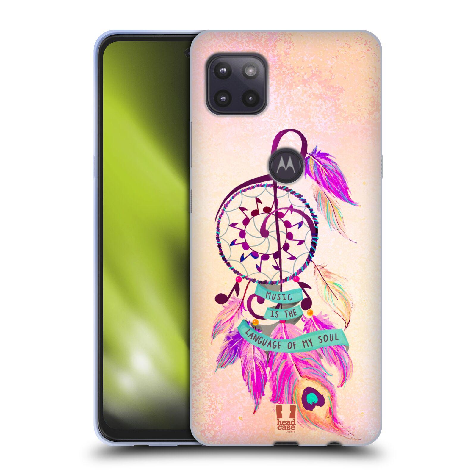 Silikonové pouzdro na mobil Motorola Moto G 5G - Head Case - Lapač Assorted Music