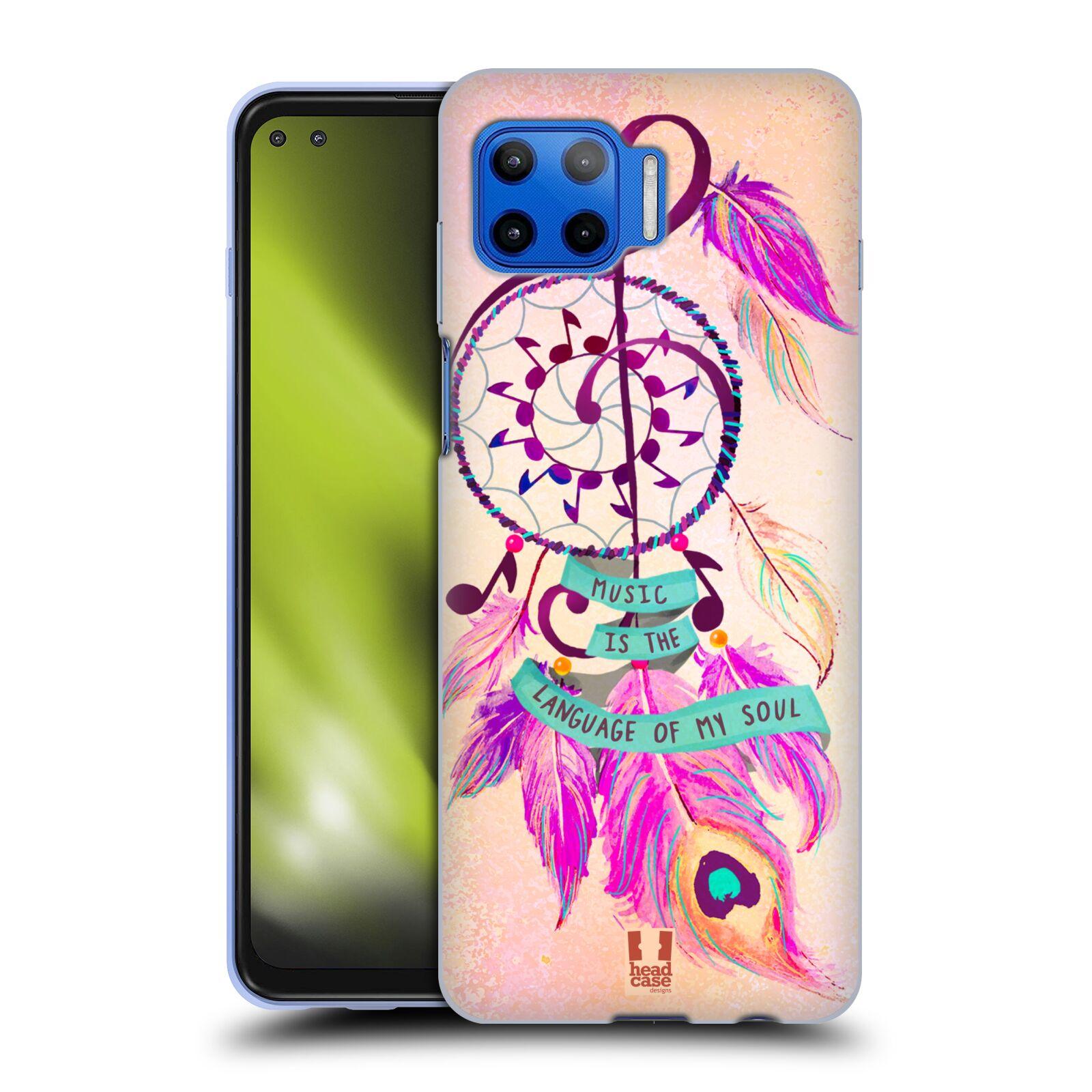 Silikonové pouzdro na mobil Motorola Moto G 5G Plus - Head Case - Lapač Assorted Music