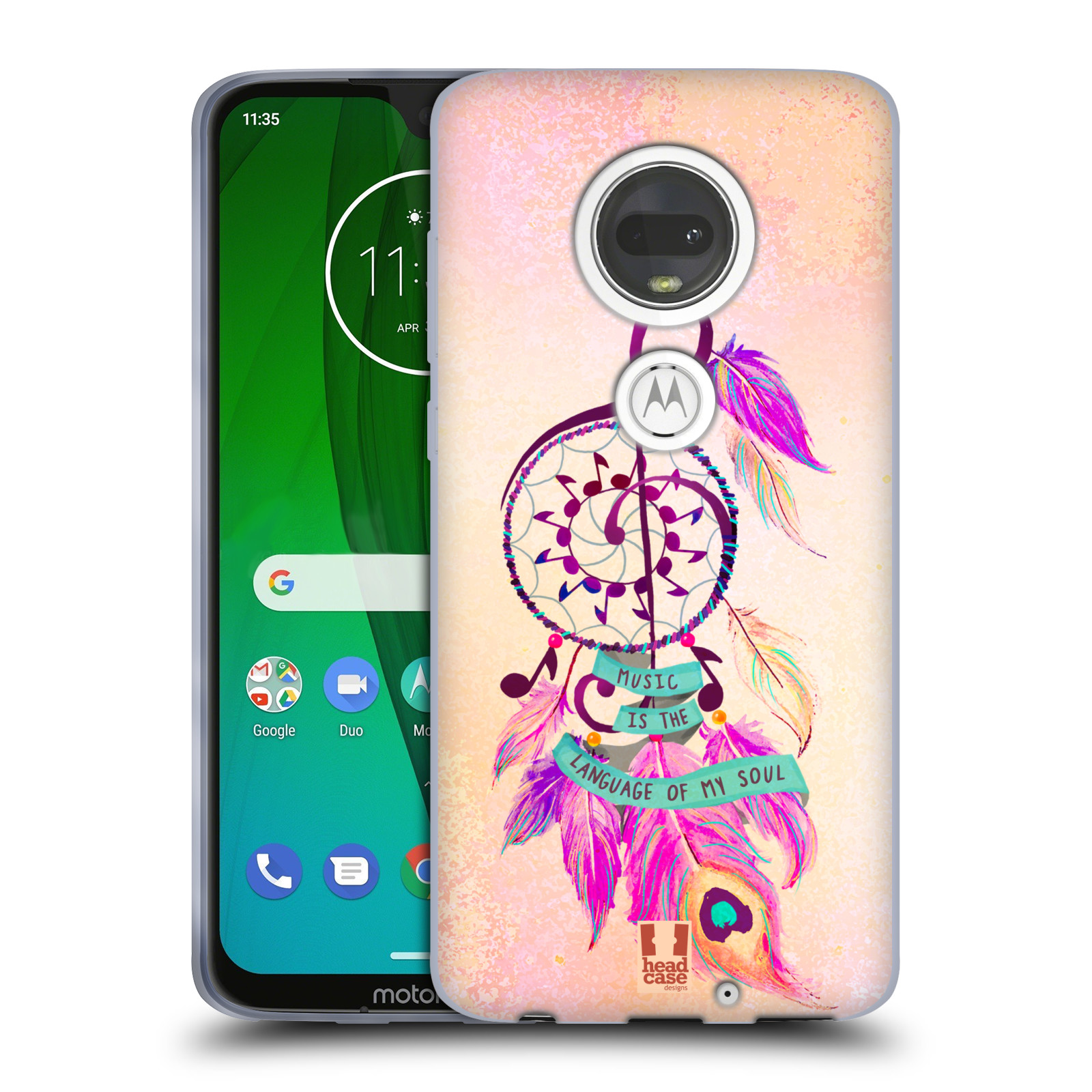 Silikonové pouzdro na mobil Motorola Moto G7 - Head Case - Lapač Assorted Music