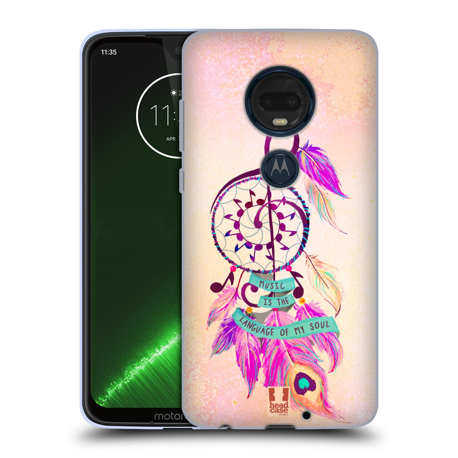 Silikonové pouzdro na mobil Motorola Moto G7 Plus - Head Case - Lapač Assorted Music