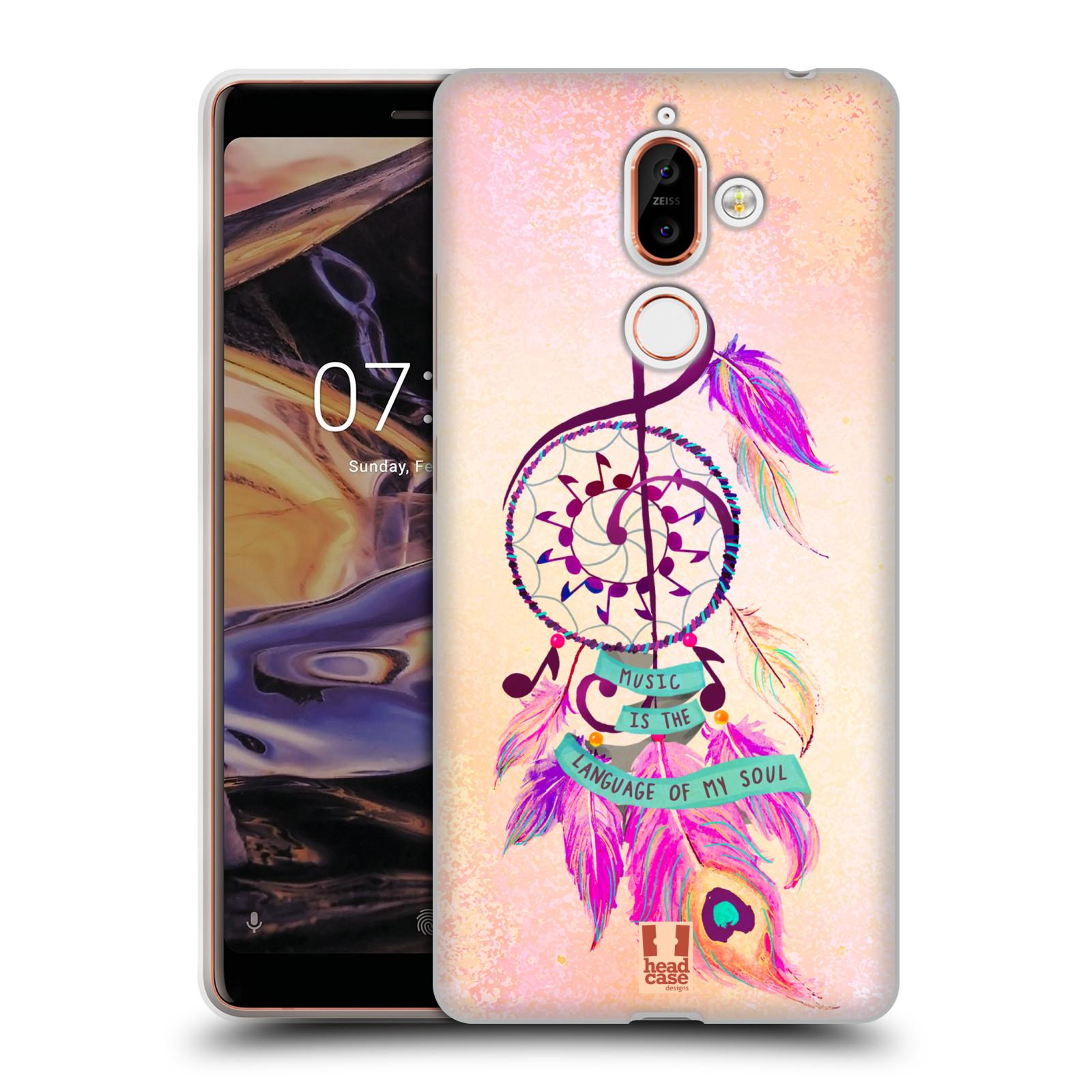 Silikonové pouzdro na mobil Nokia 7 Plus - Head Case - Lapač Assorted Music