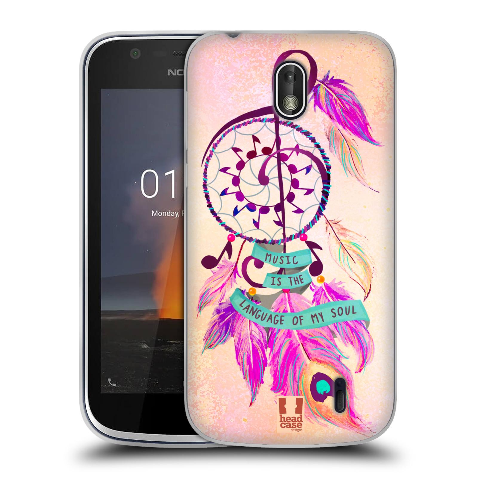 Silikonové pouzdro na mobil Nokia 1 - Head Case - Lapač Assorted Music